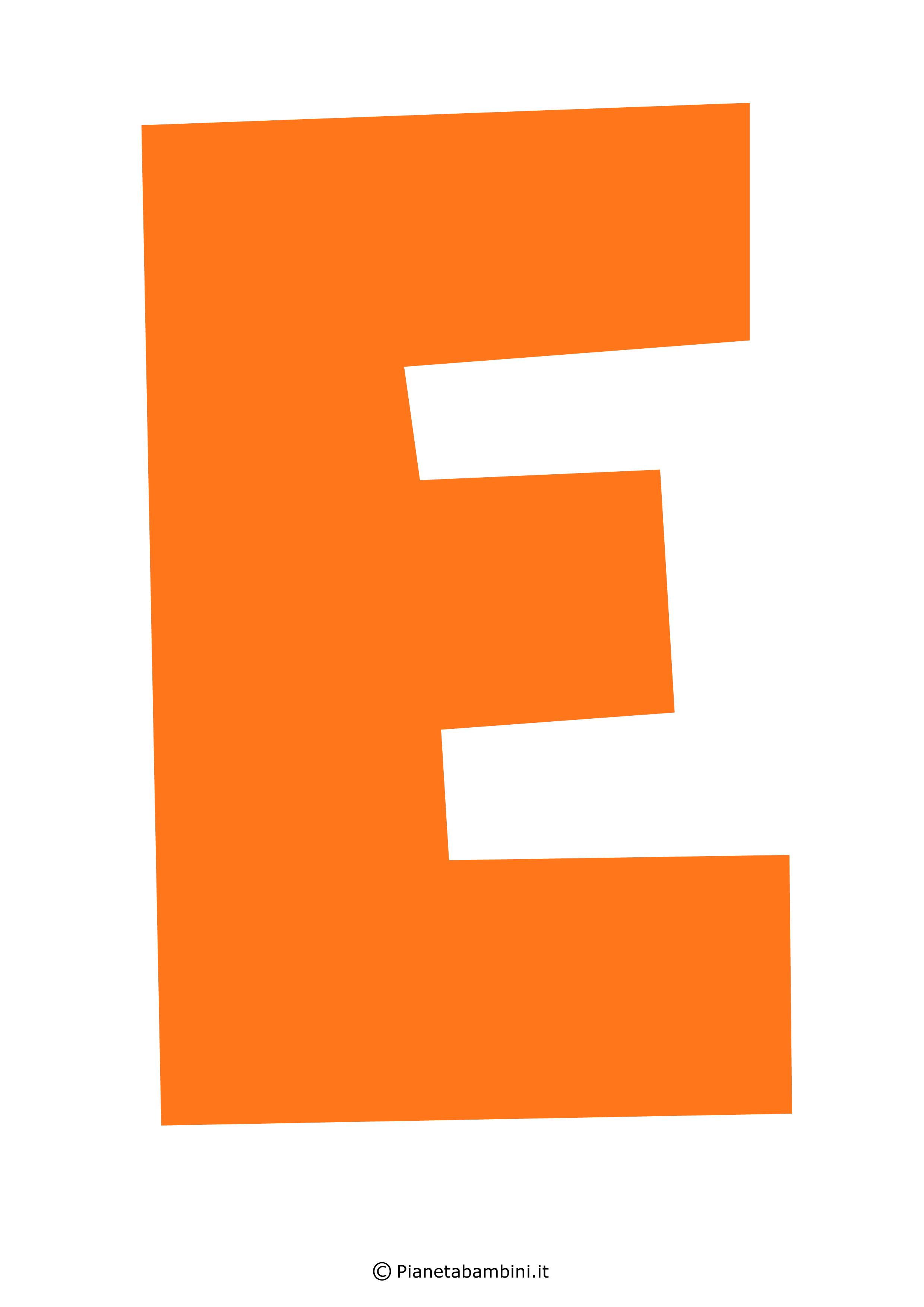 Lettera-E-Arancione
