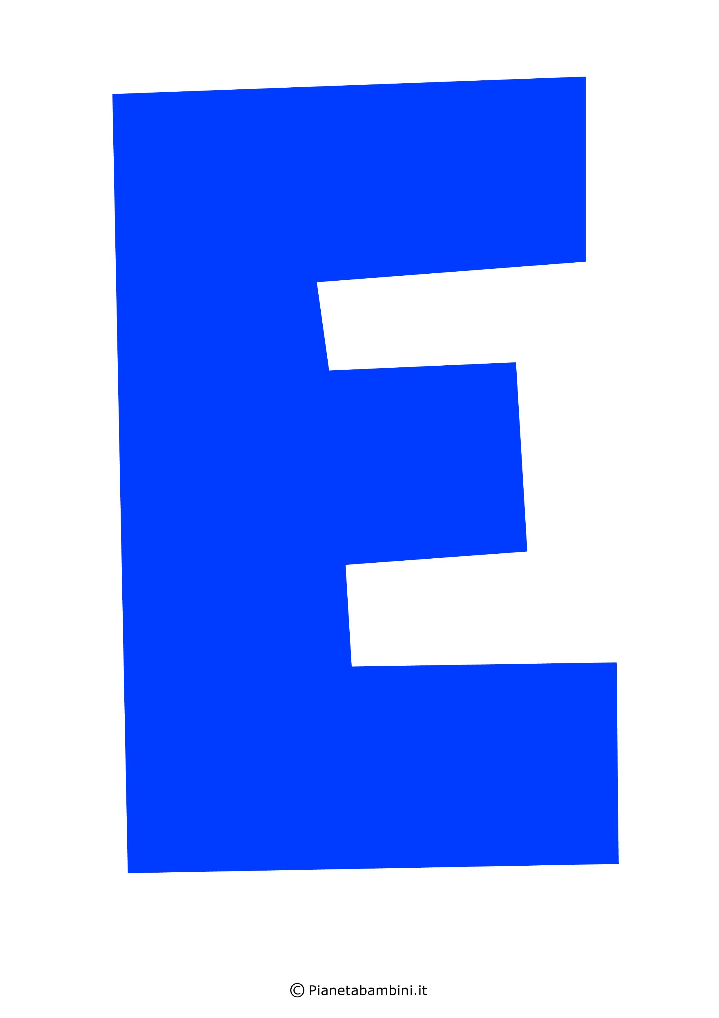 Lettera-E-Blu
