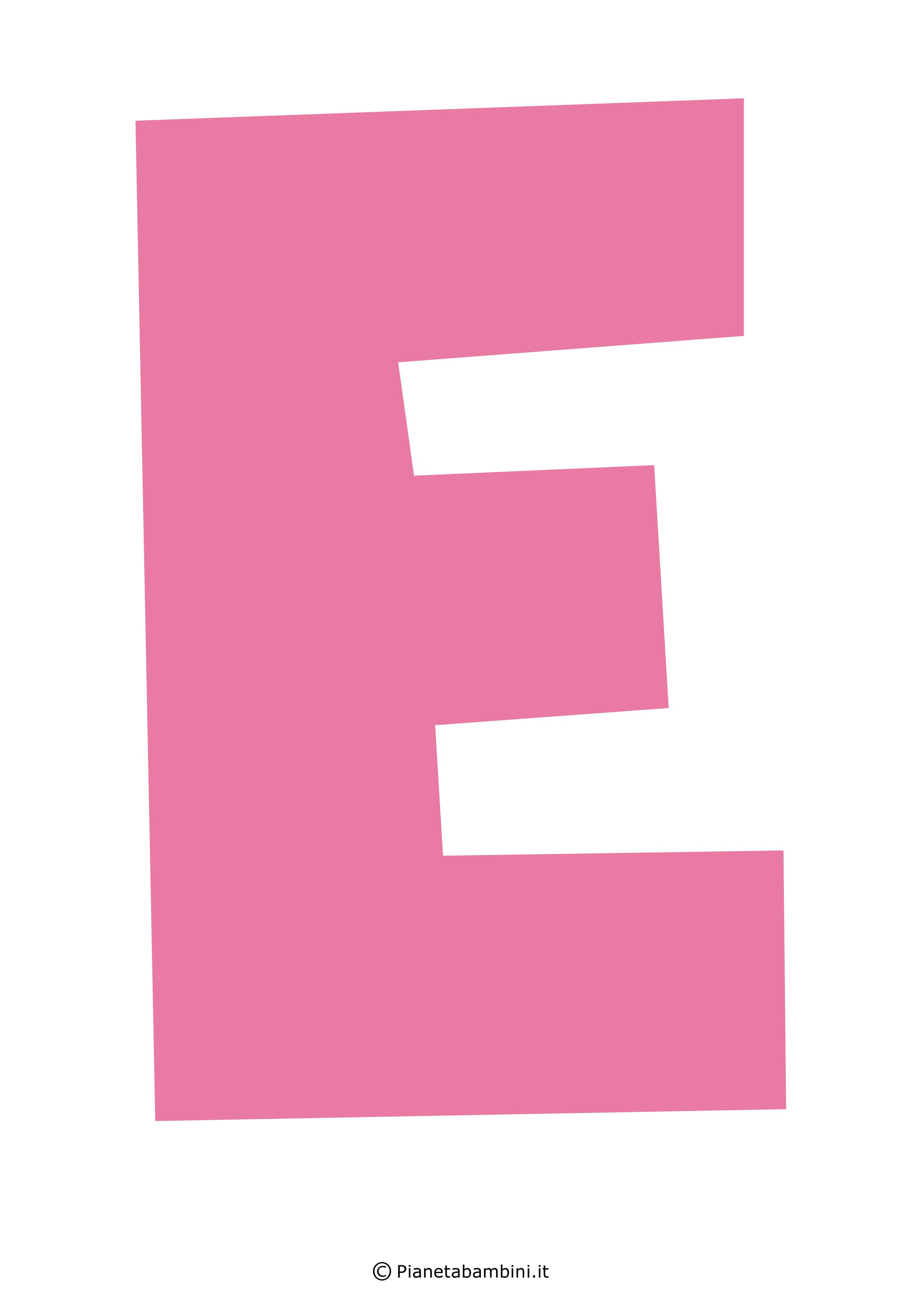 Lettera-E-Rosa