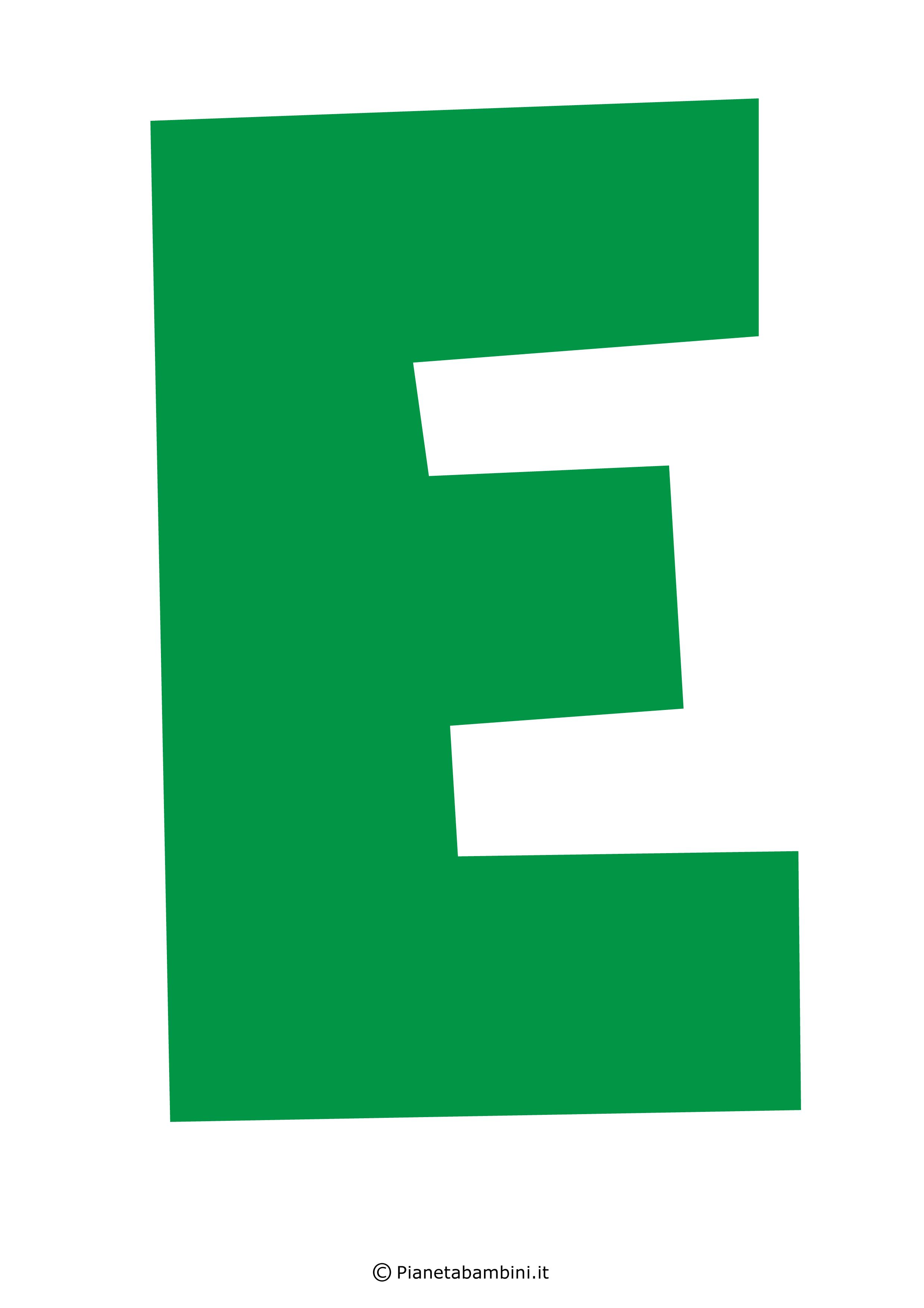 Lettera-E-Verde