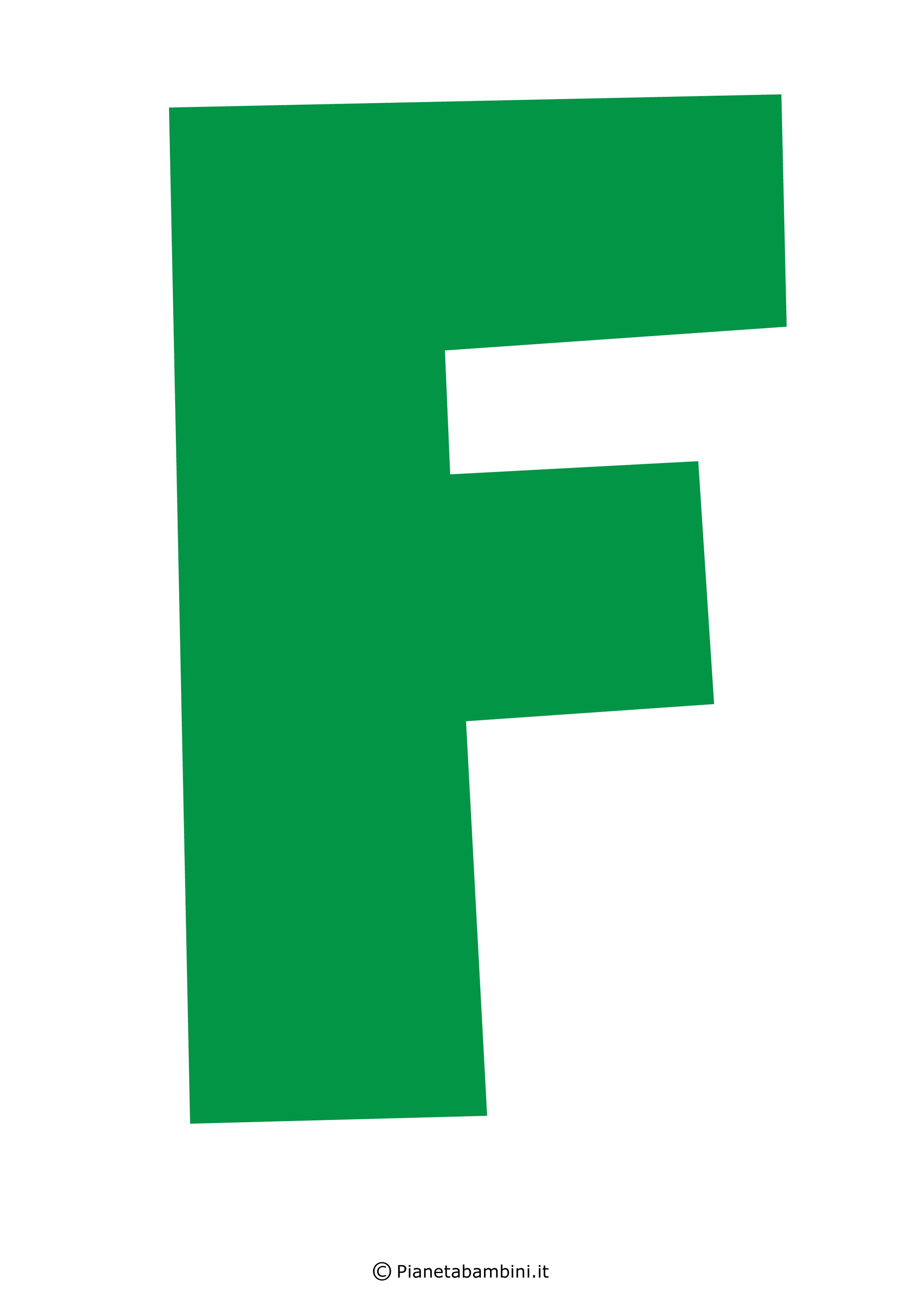 Lettera-F-Verde