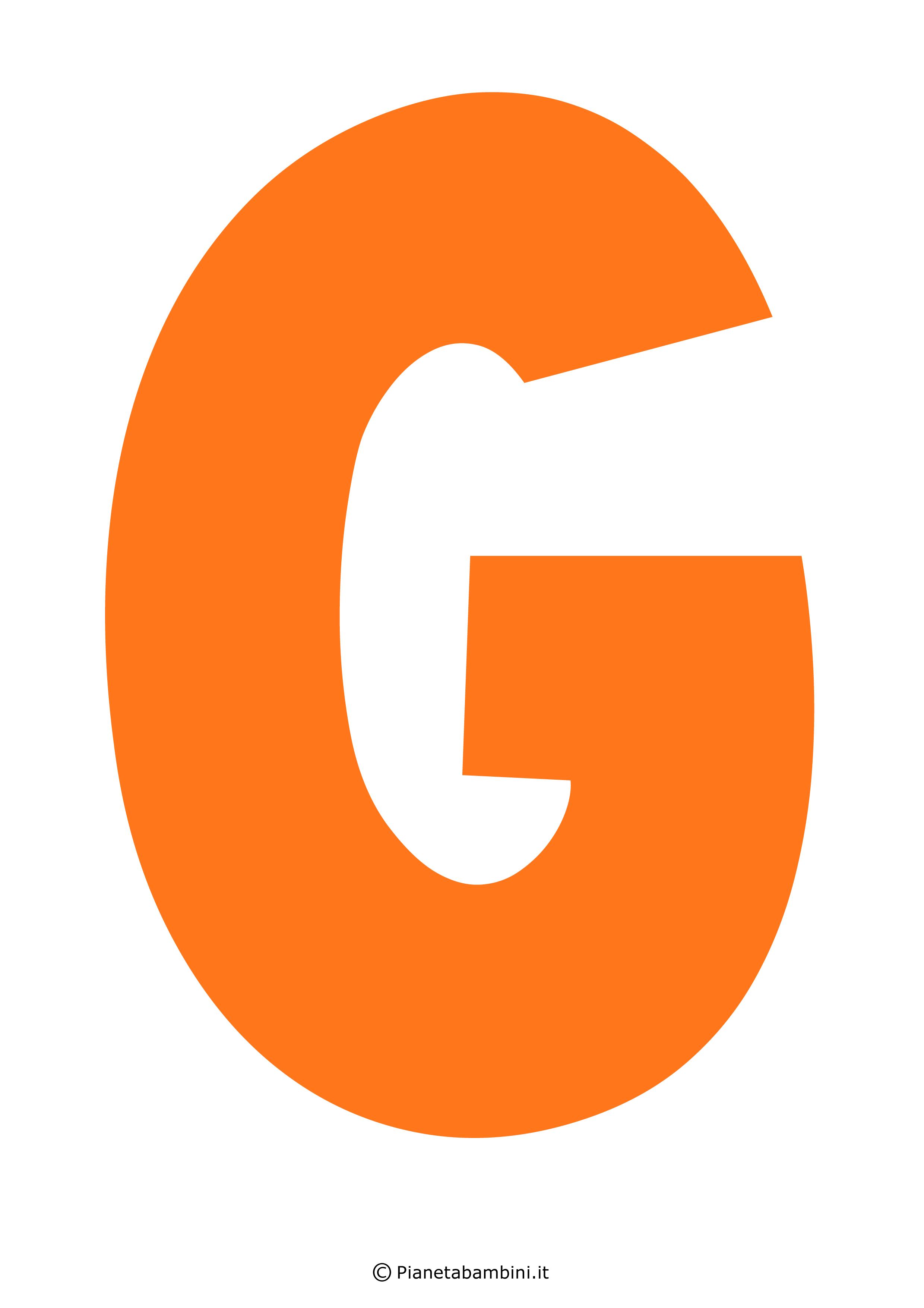 Lettera-G-Arancione