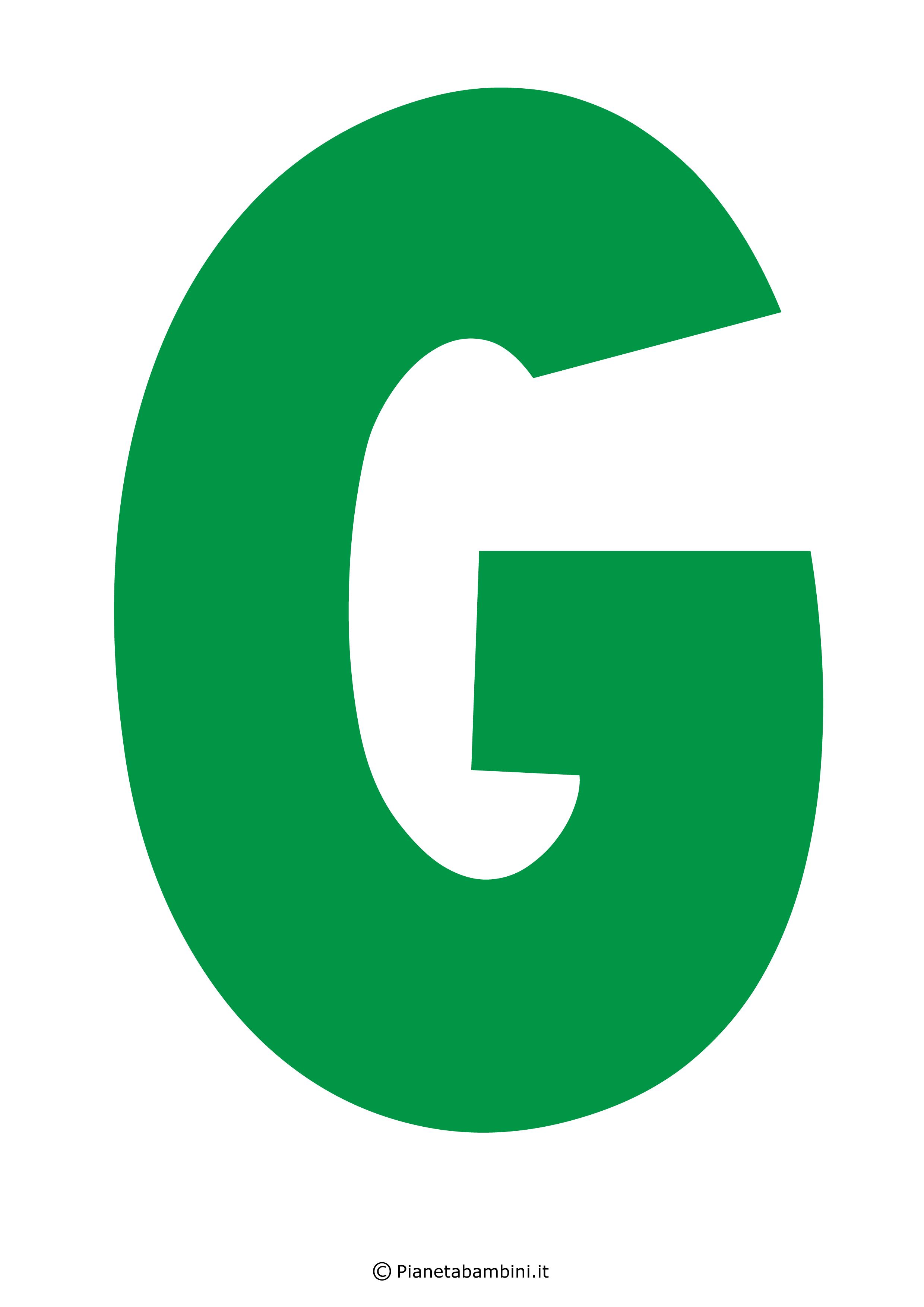 Lettera-G-Verde