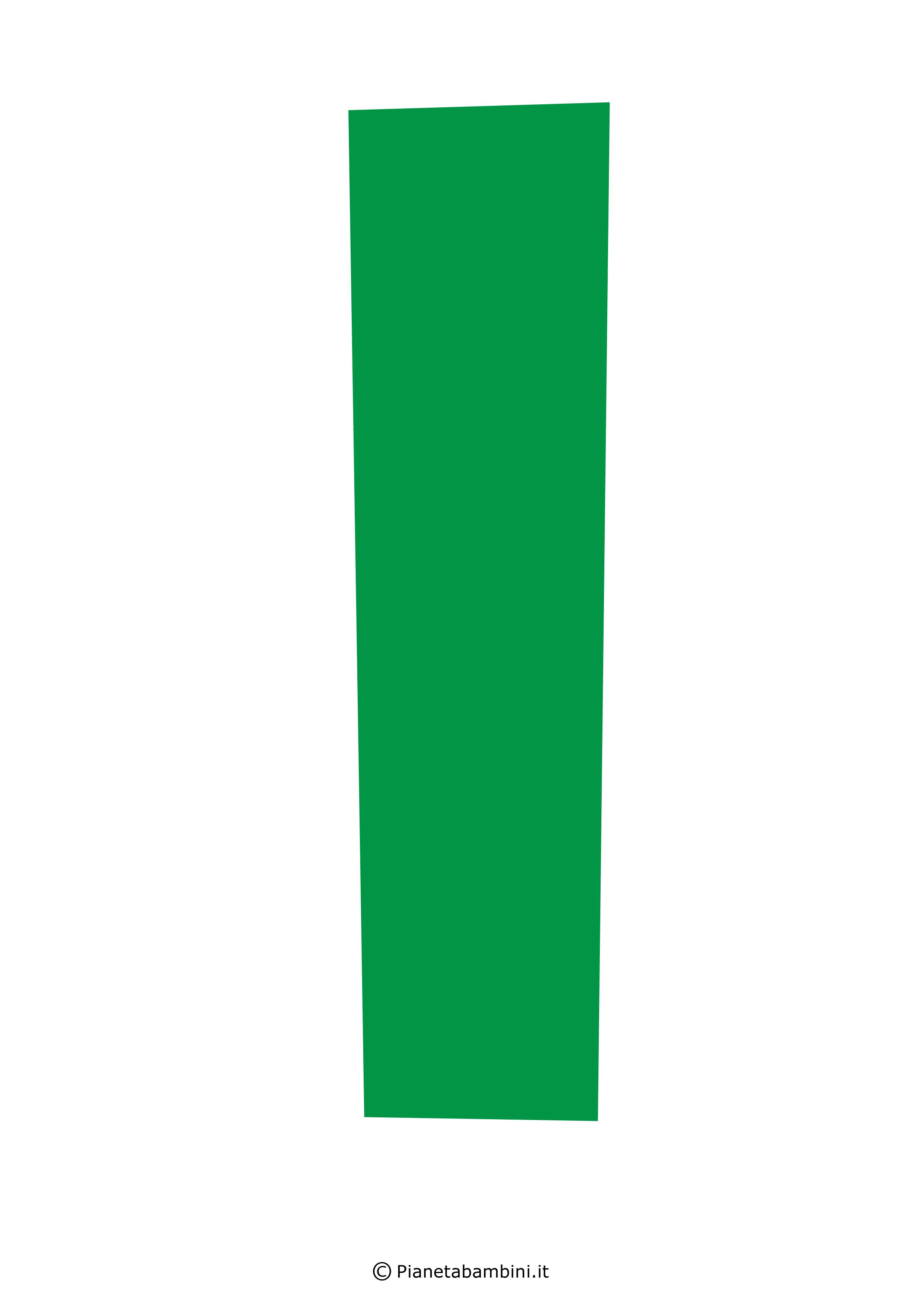 Lettera-I-Verde