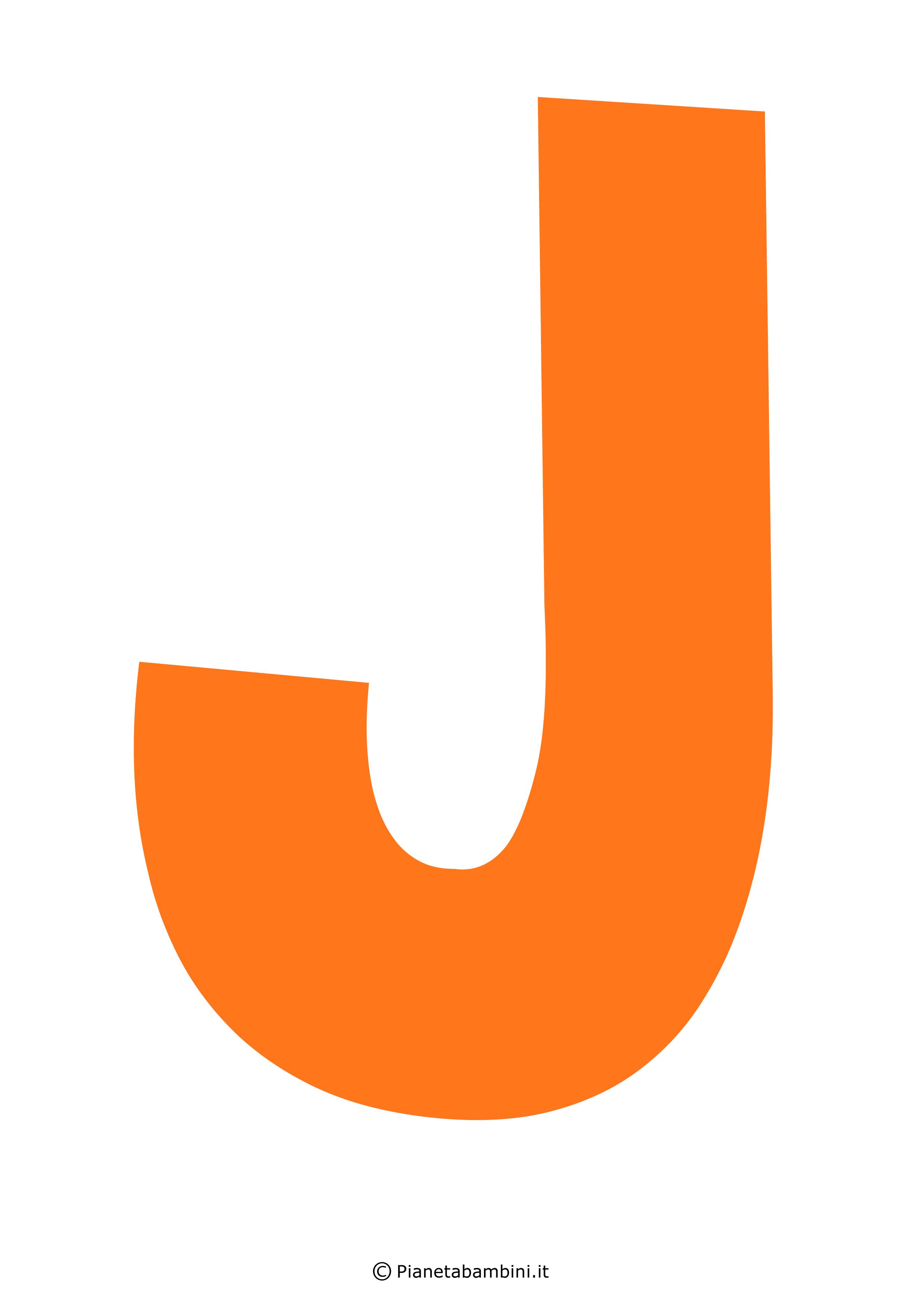 Lettera-J-Arancione