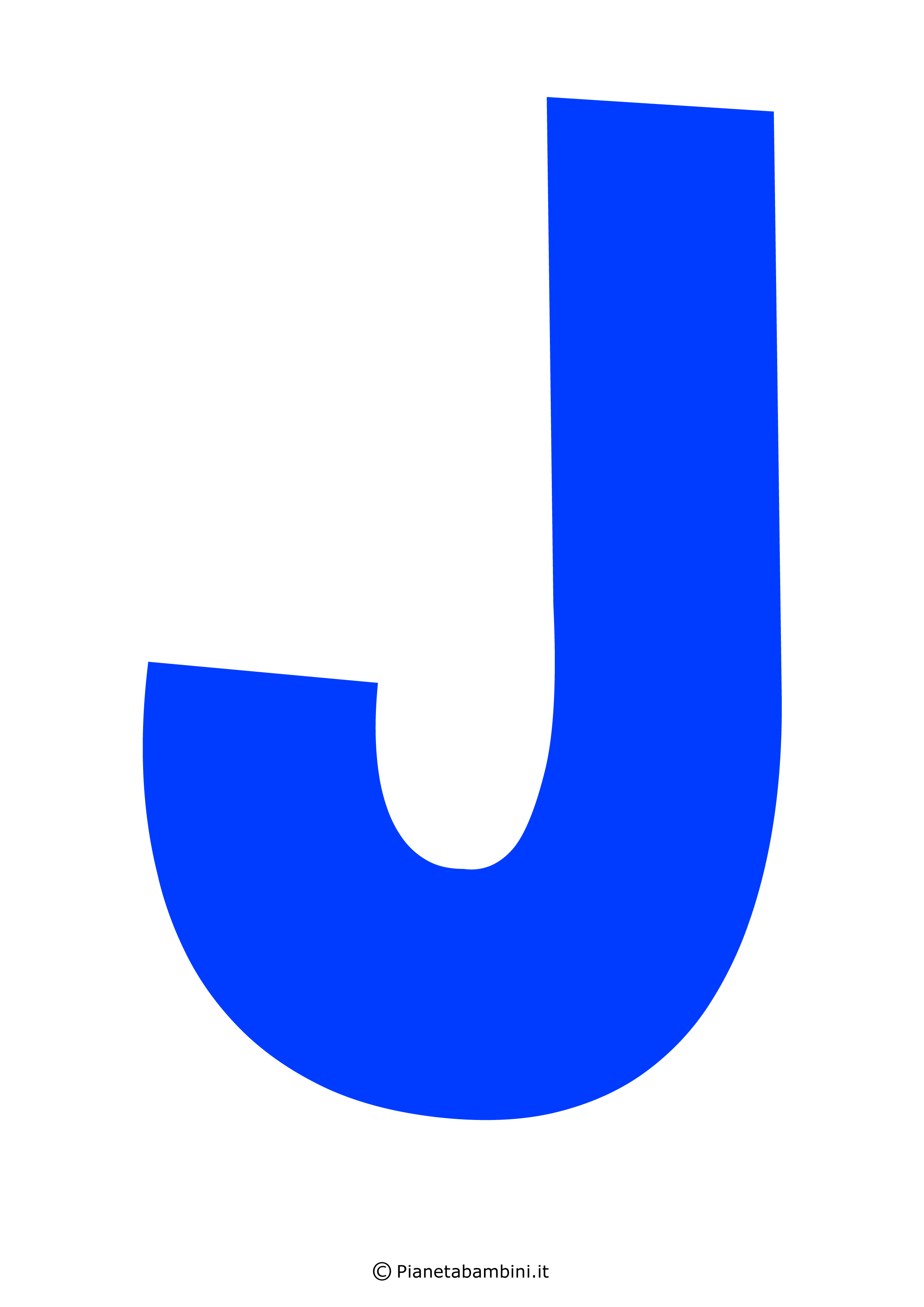 Lettera-J-Blu