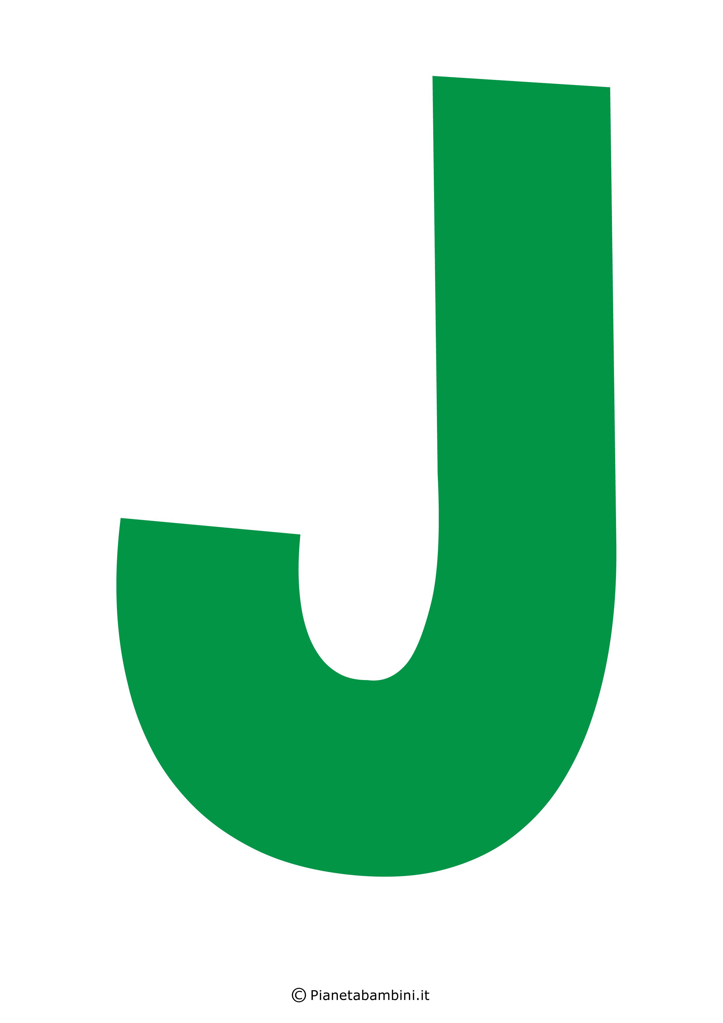 Lettera-J-Verde