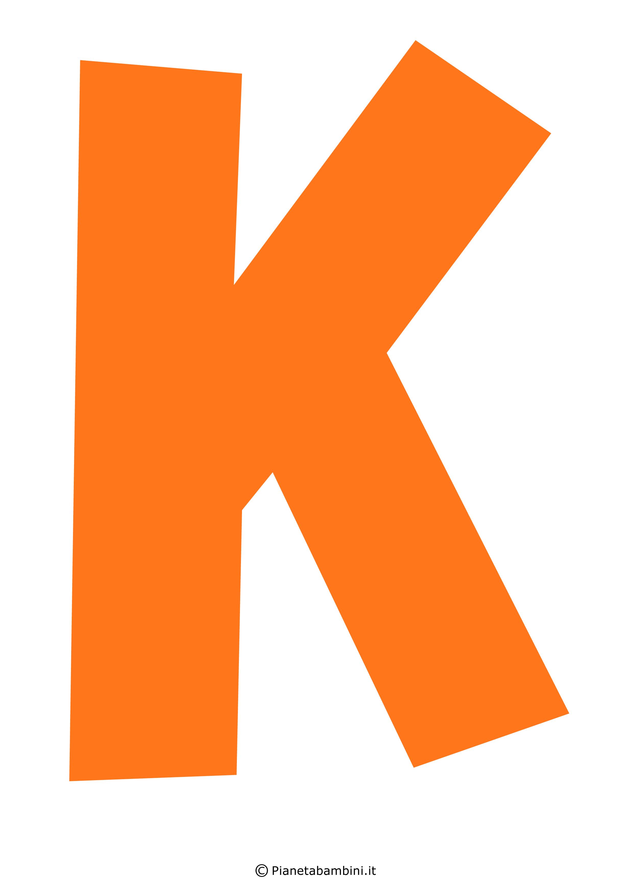 Lettera-K-Arancione