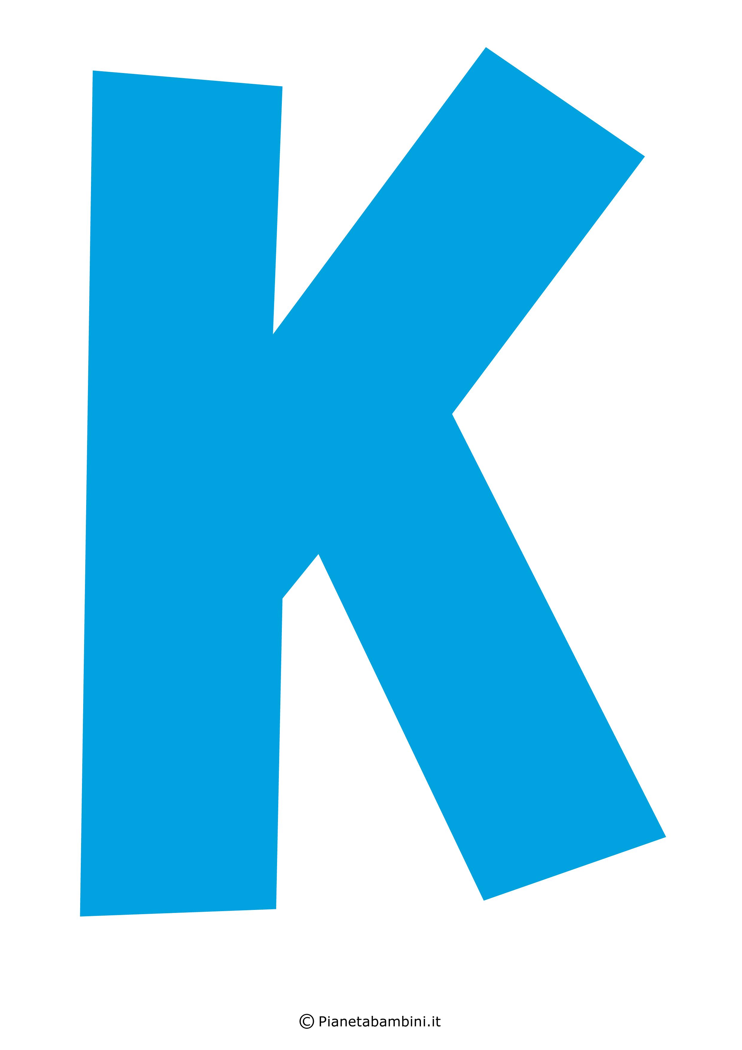 Lettera-K-Azzurra