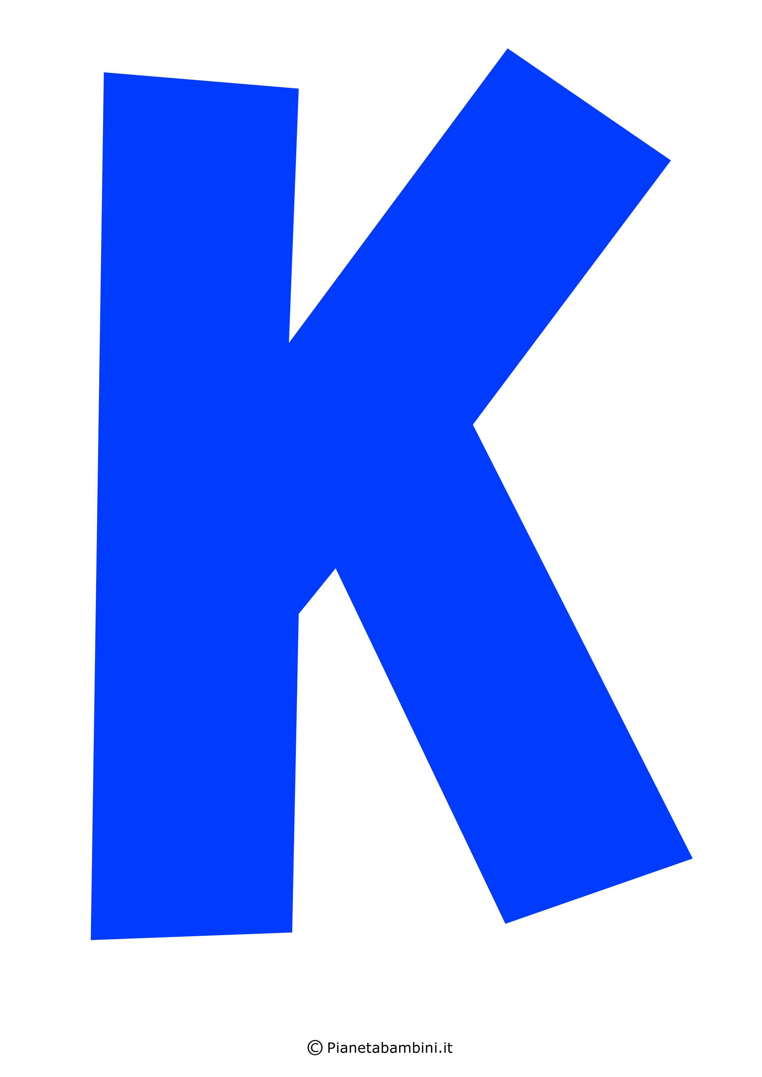 Lettera-K-Blu