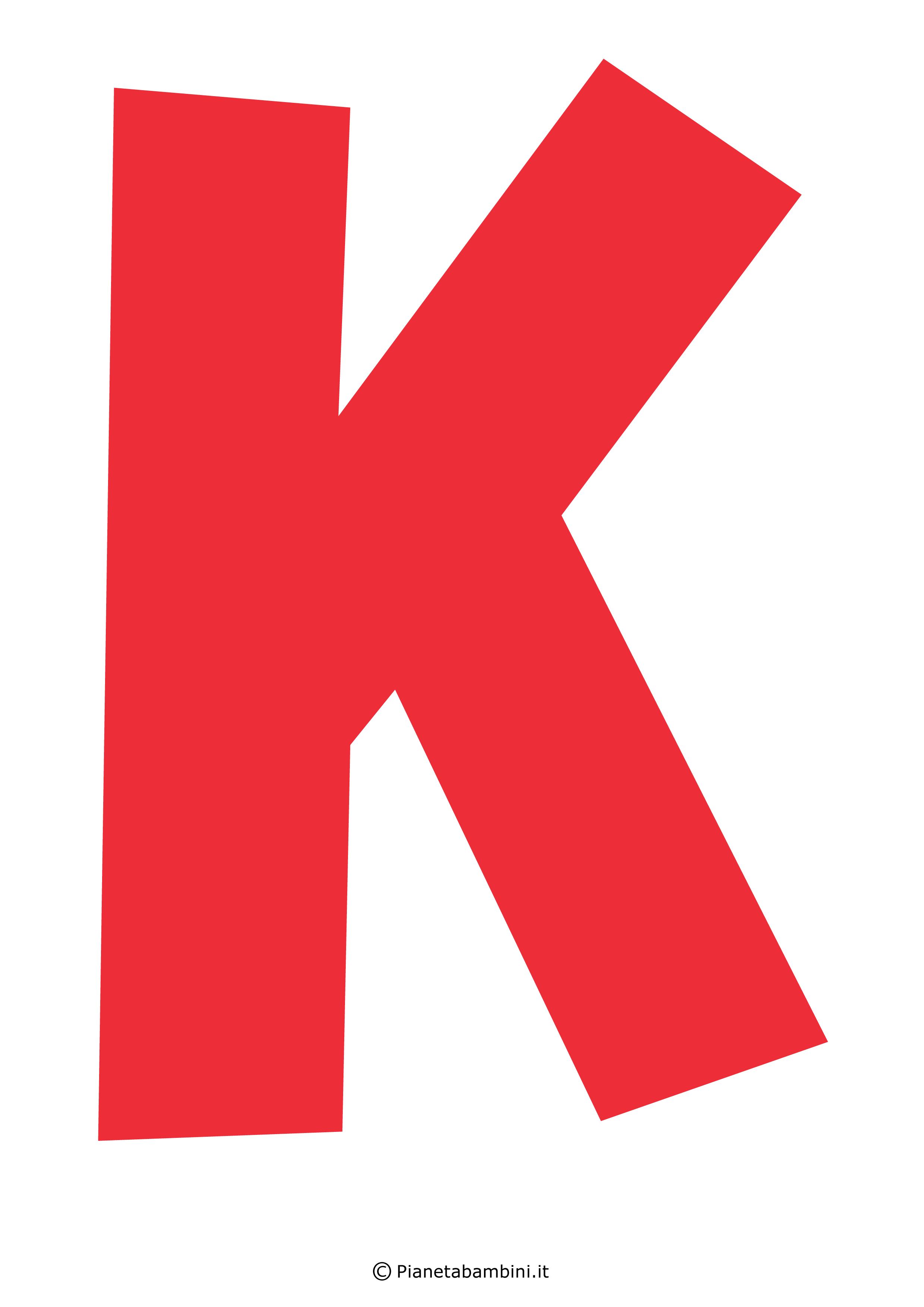 Lettera-K-Rossa
