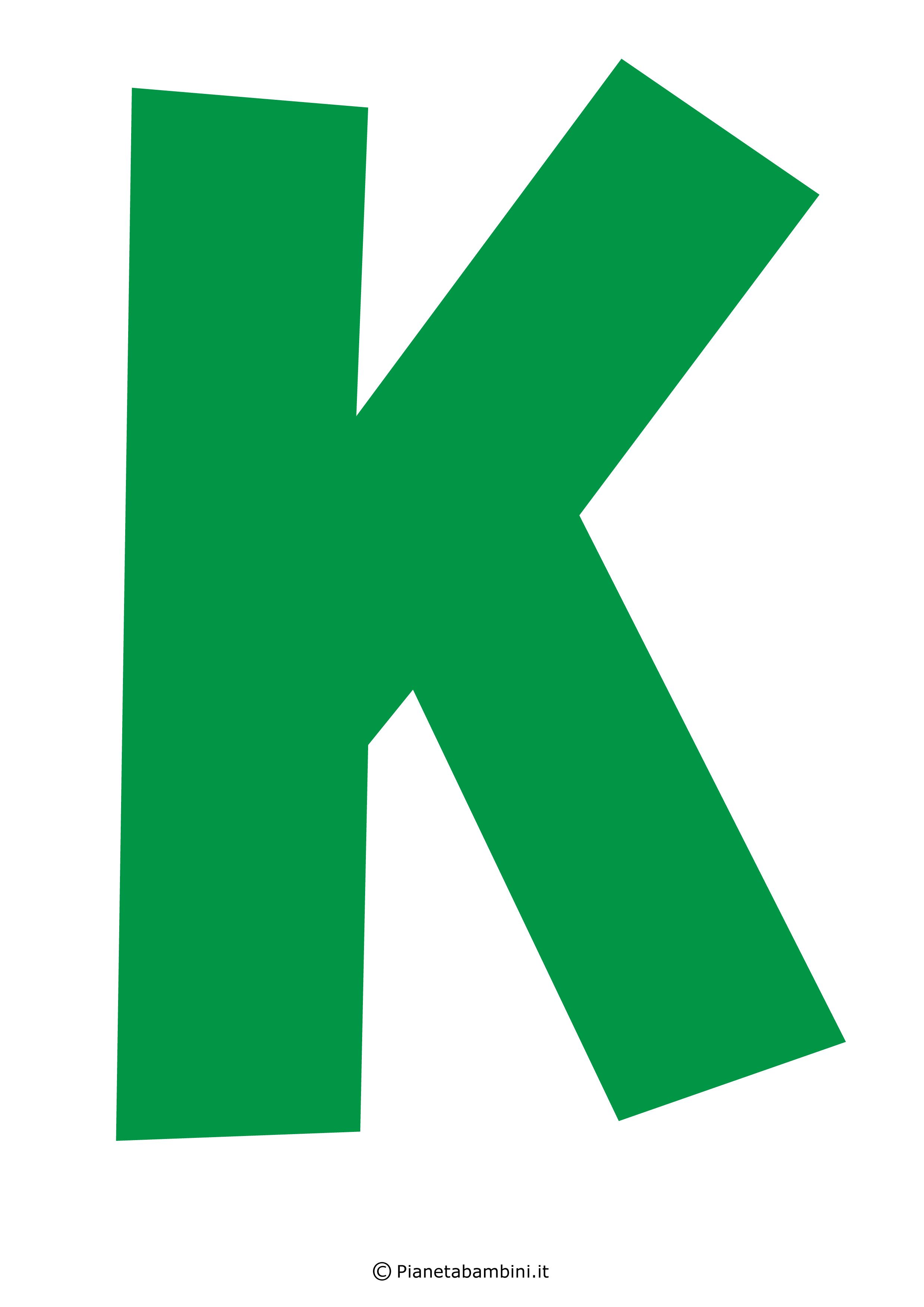 Lettera-K-Verde