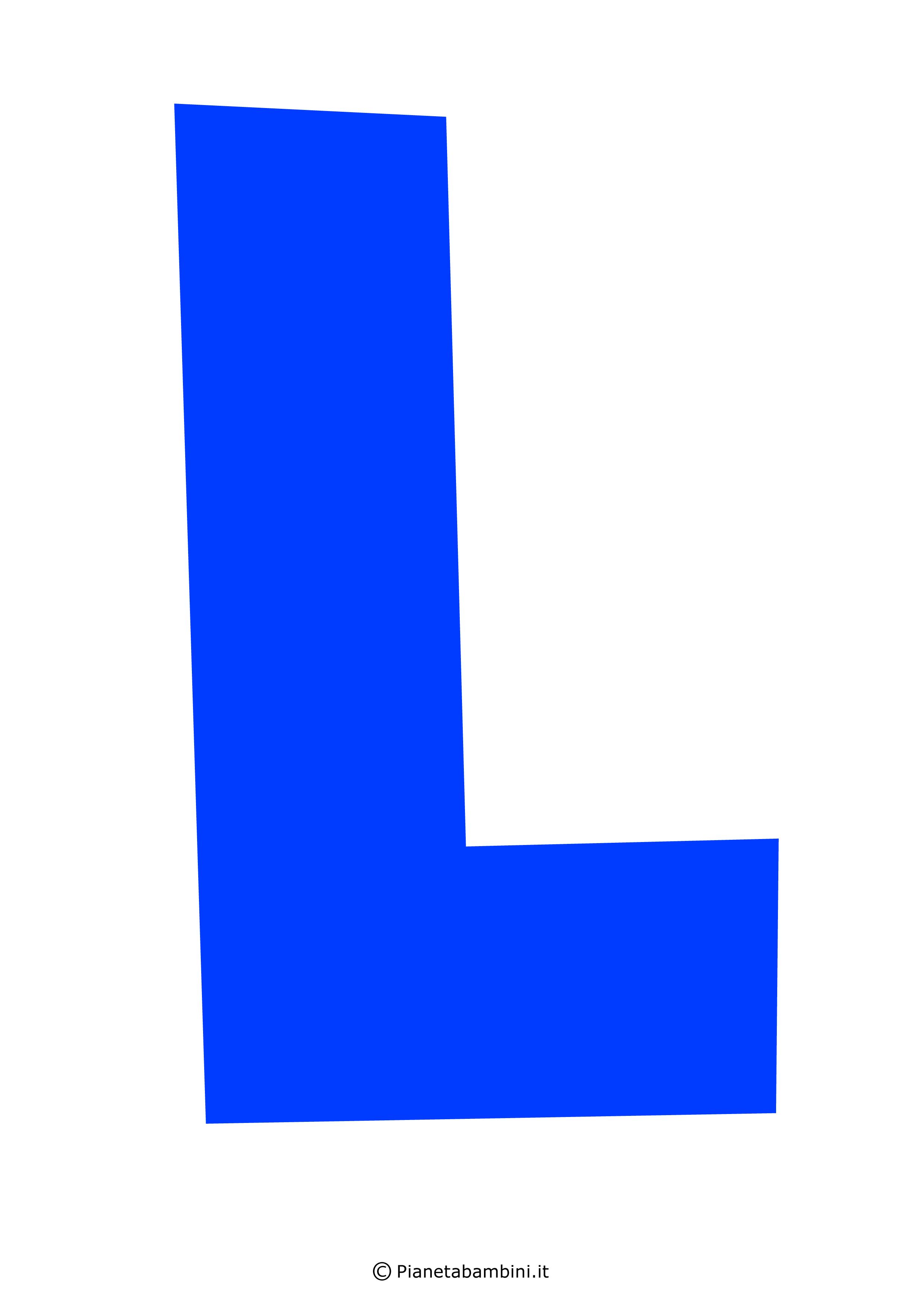 Lettera-L-Blu