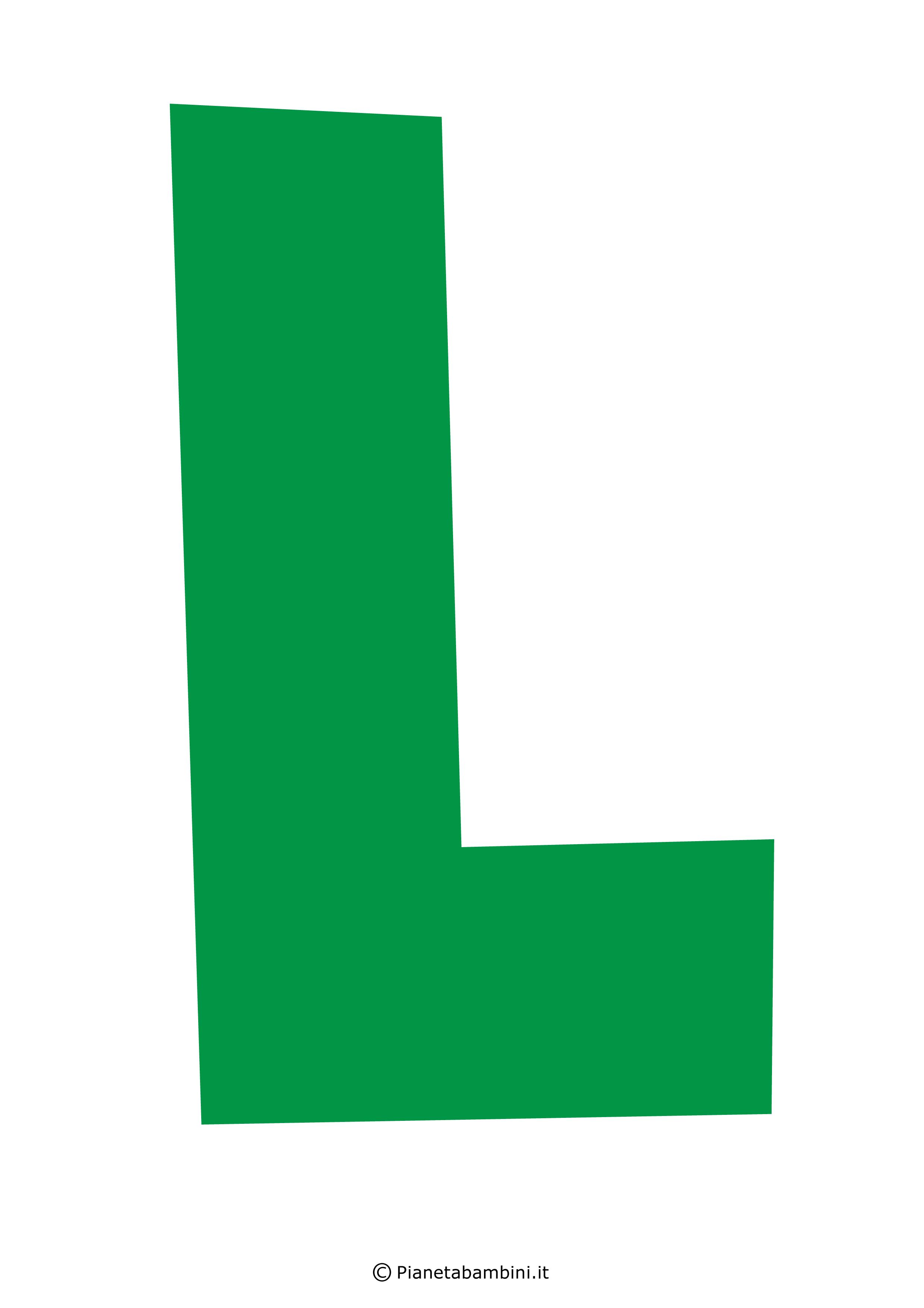 Lettera-L-Verde