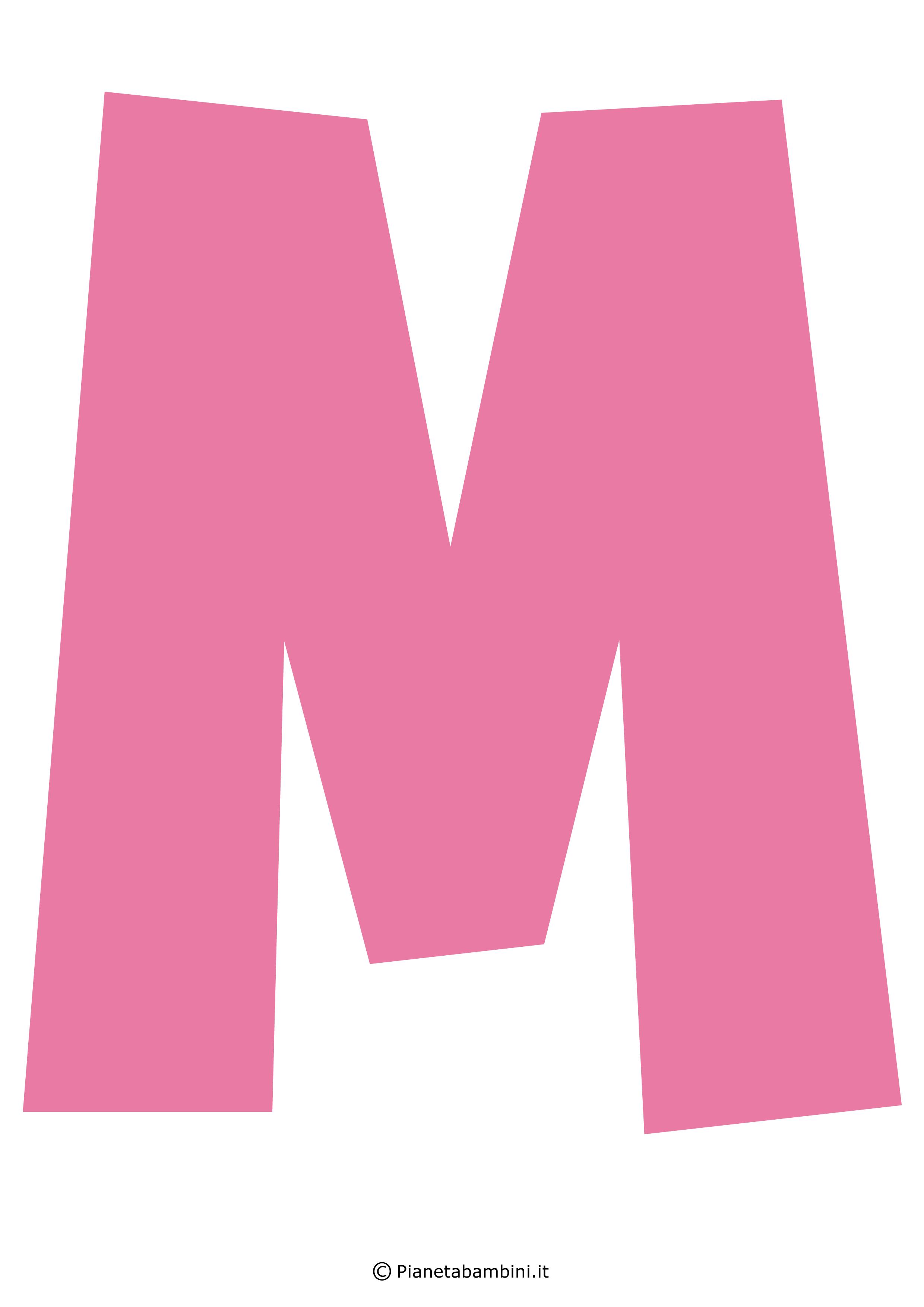 Lettera-M-Rosa