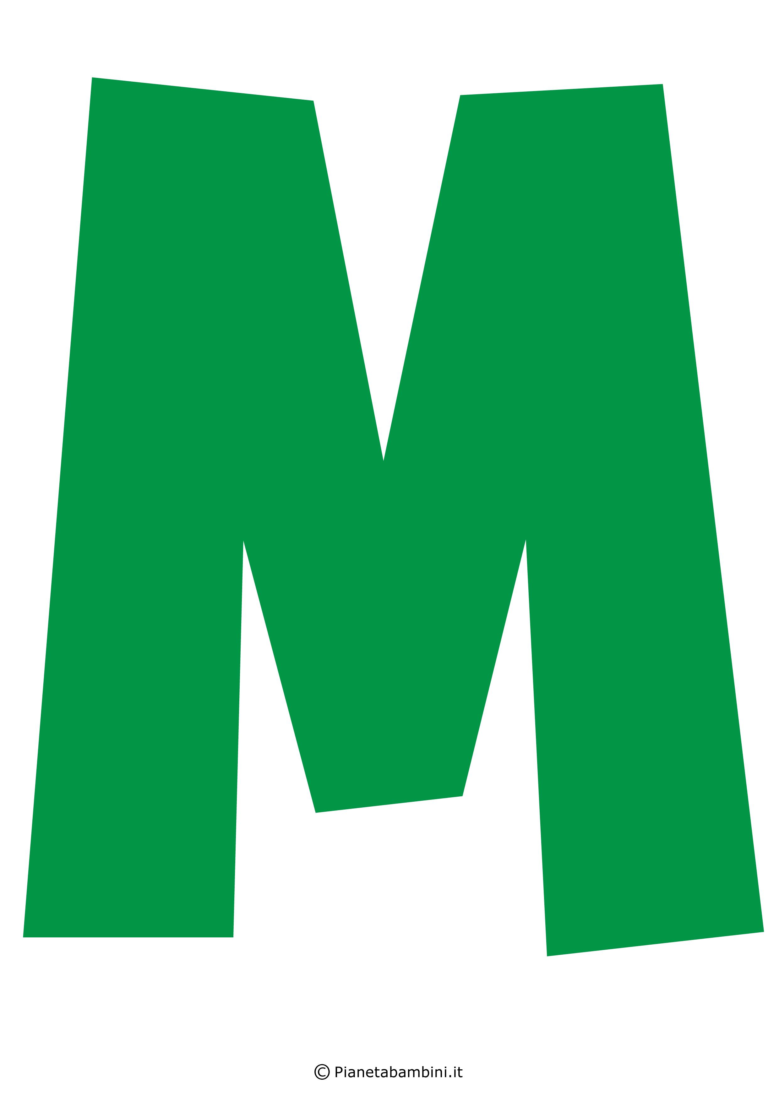 Lettera-M-Verde