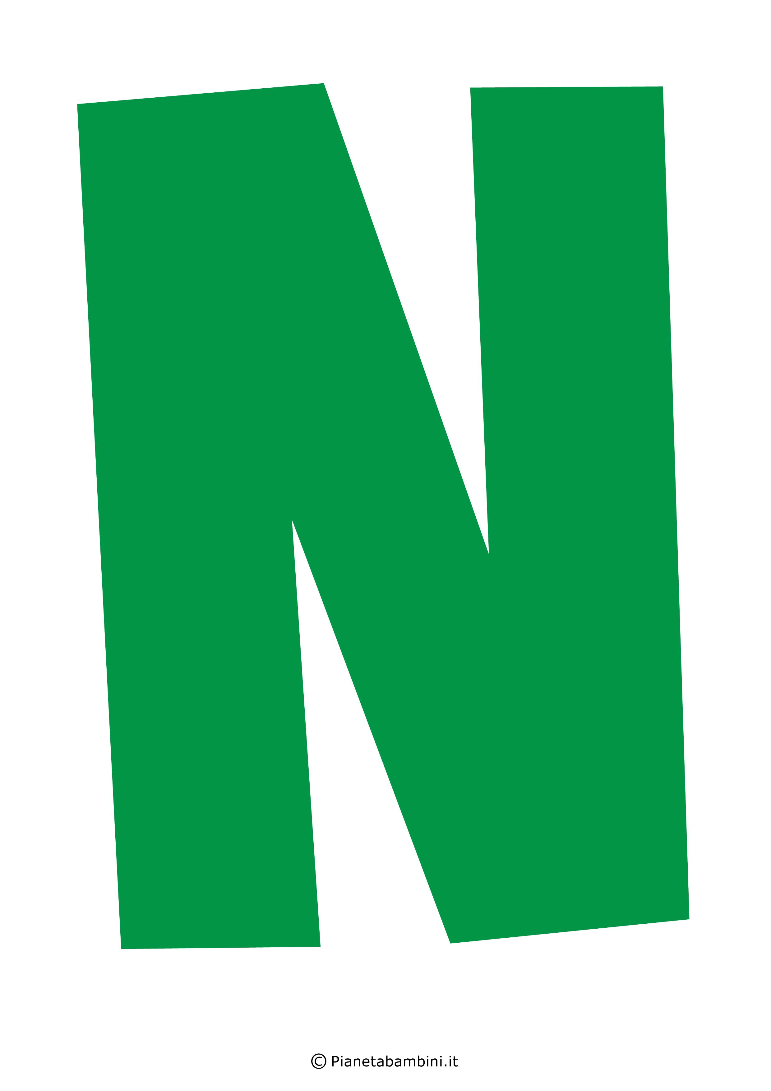 Lettera-N-Verde