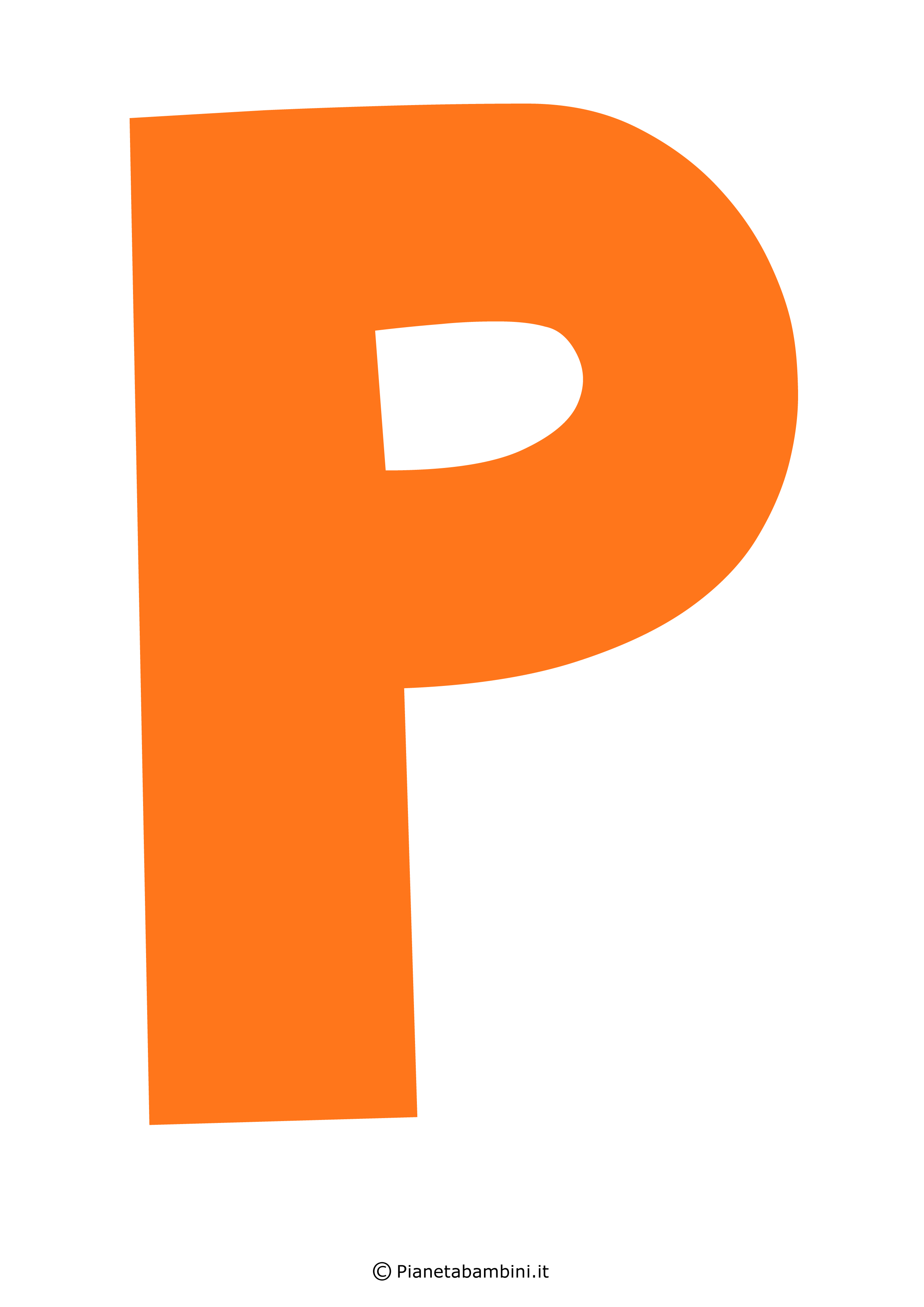 Lettera-P-Arancione