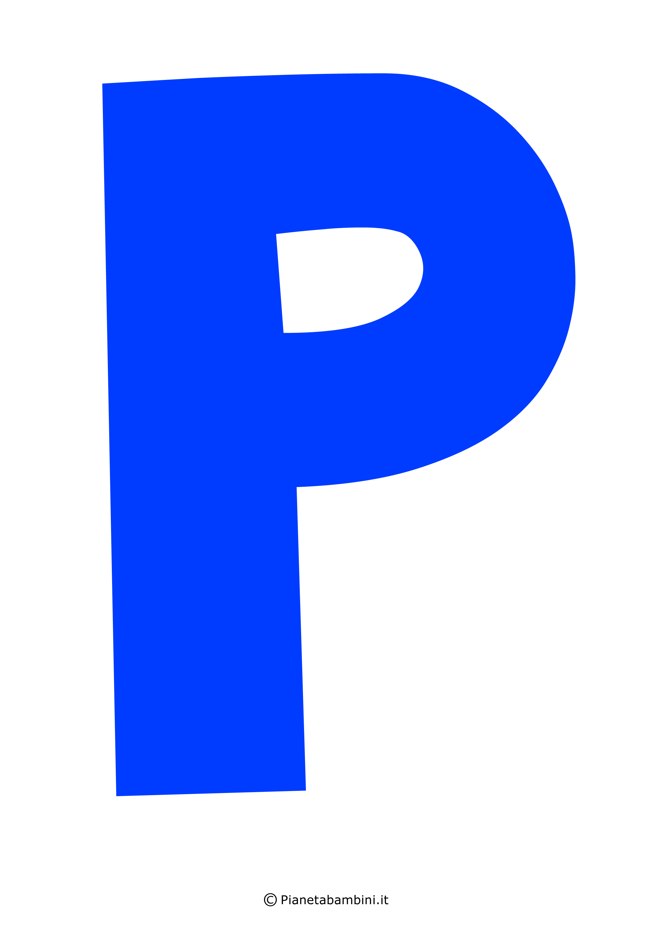 Lettera-P-Blu