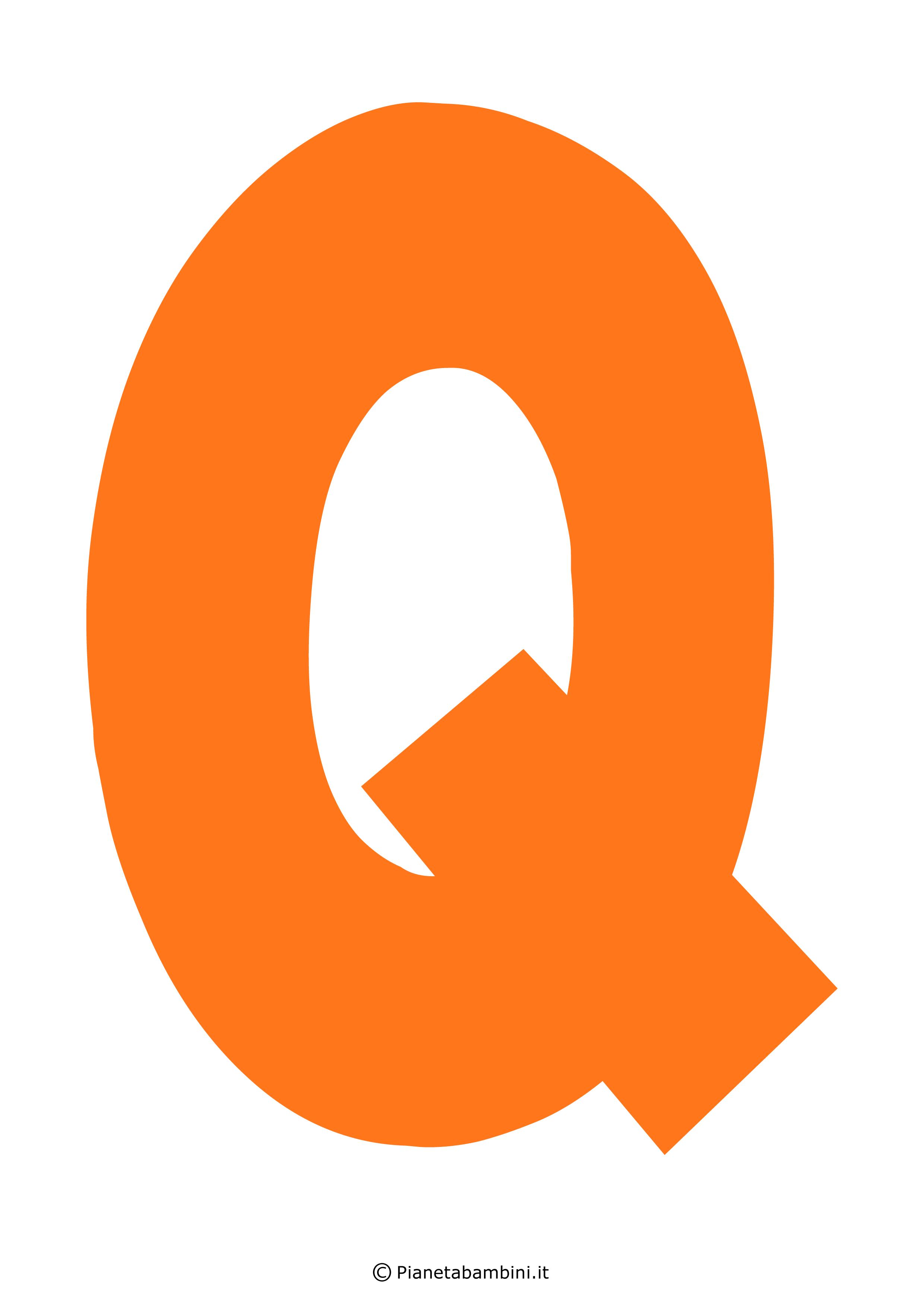 Lettera-Q-Arancione