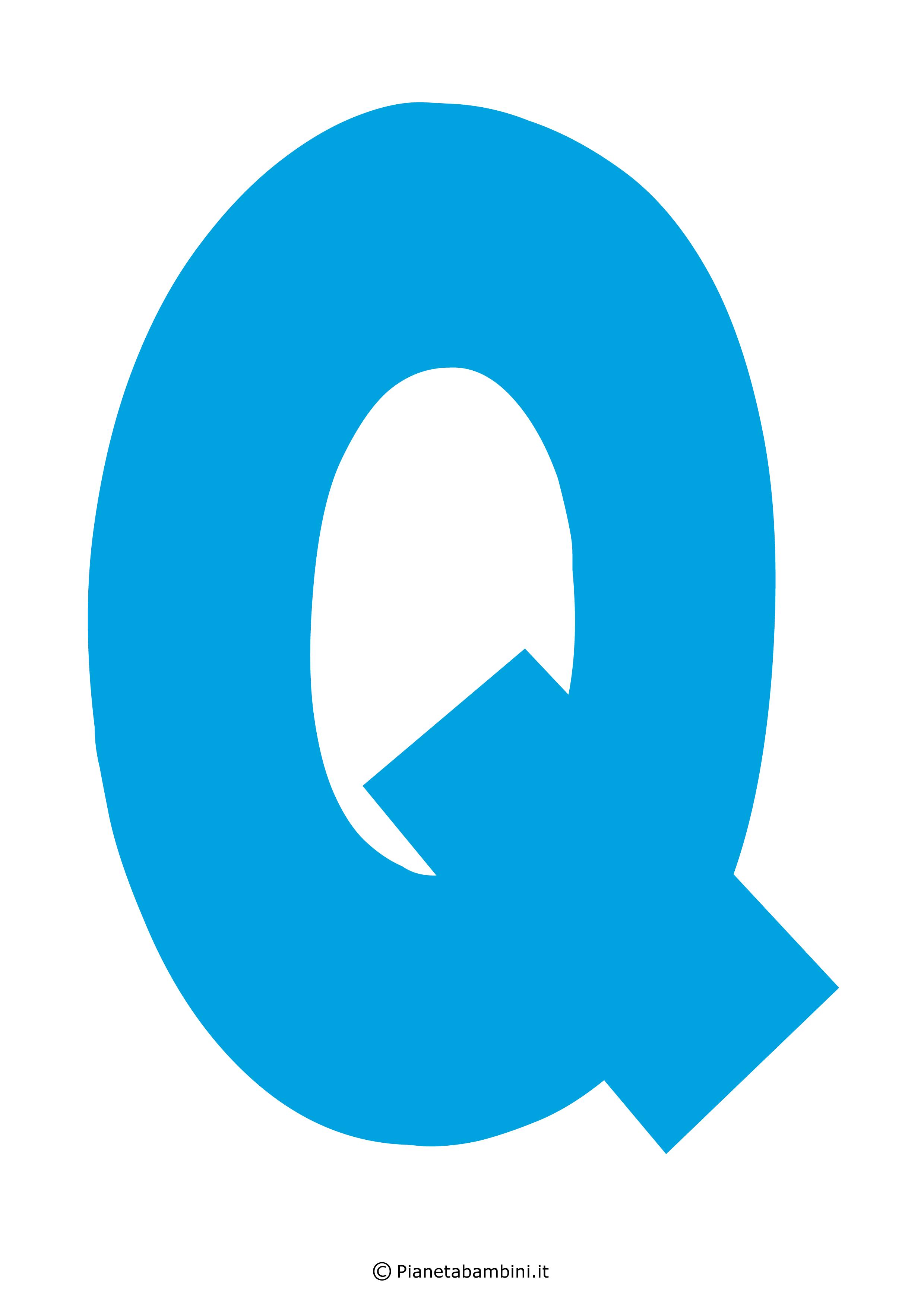 Lettera-Q-Azzurra