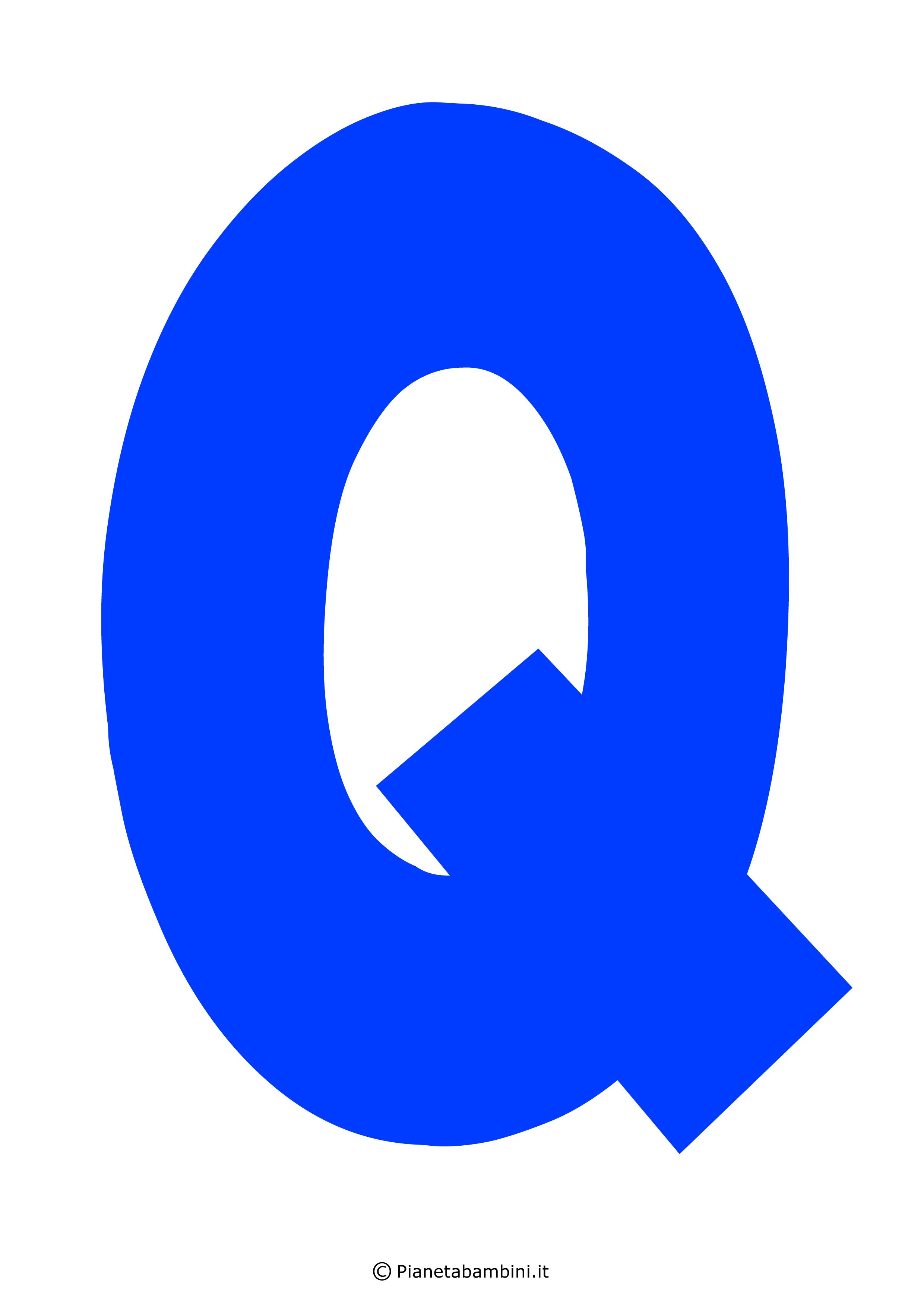 Lettera-Q-Blu