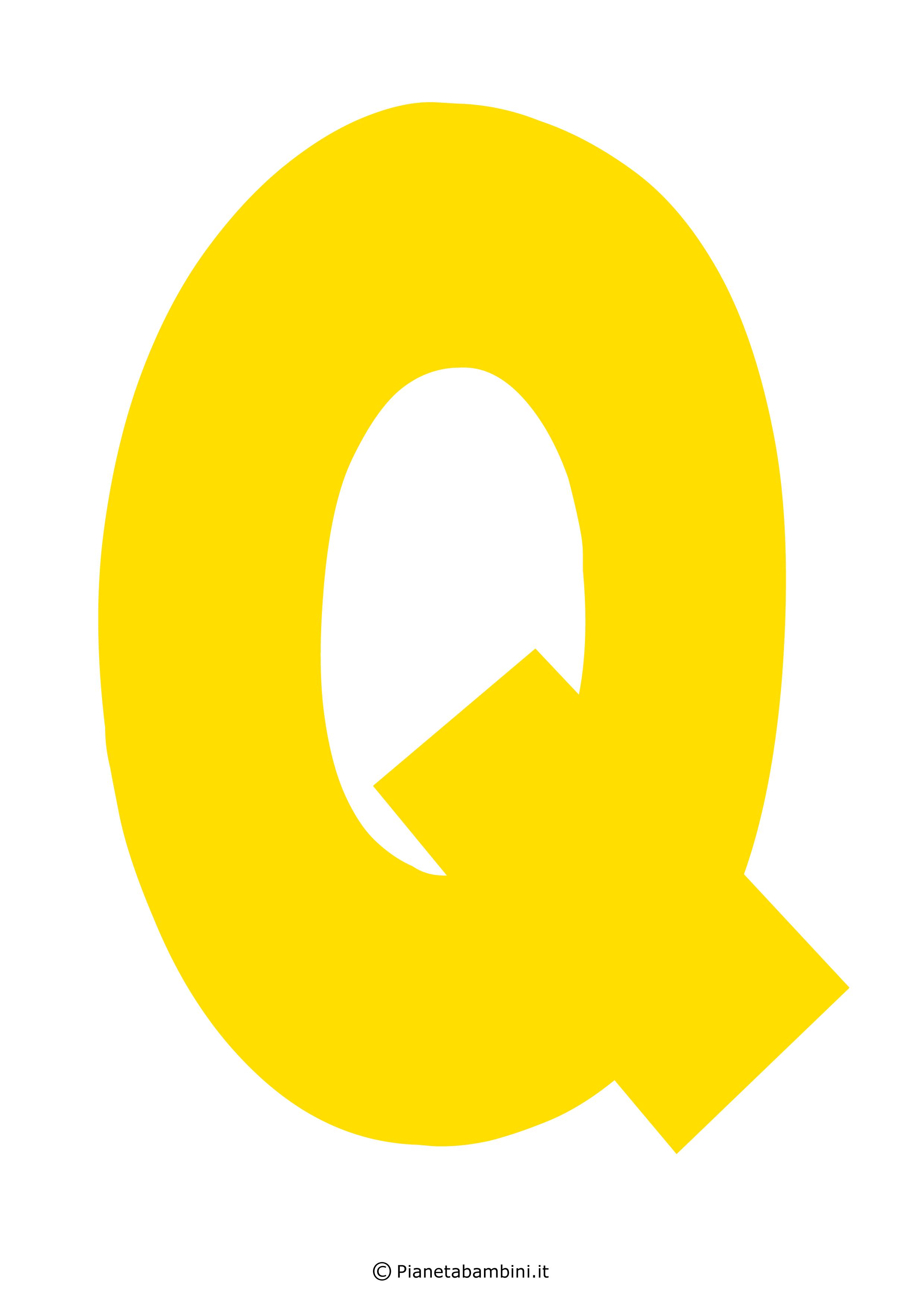 Lettera-Q-Gialla