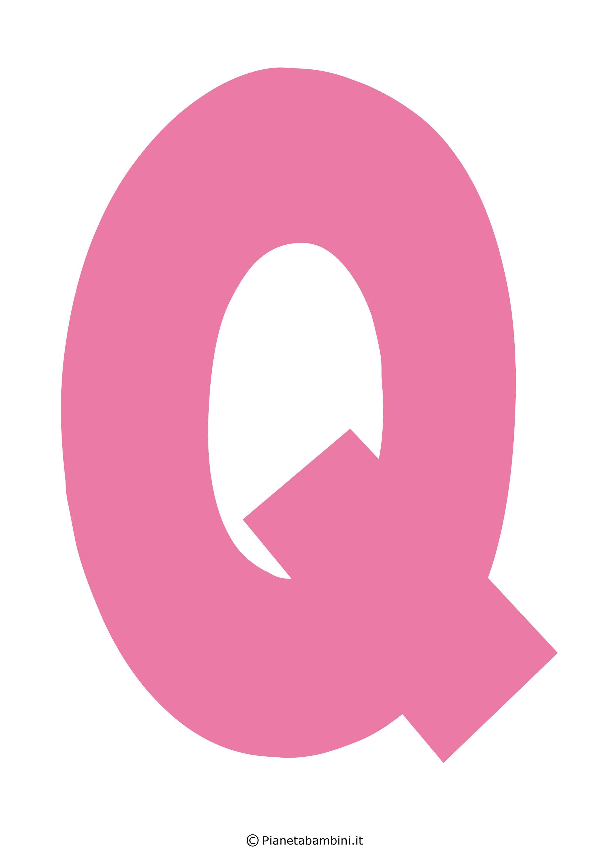 Lettera-Q-Rosa