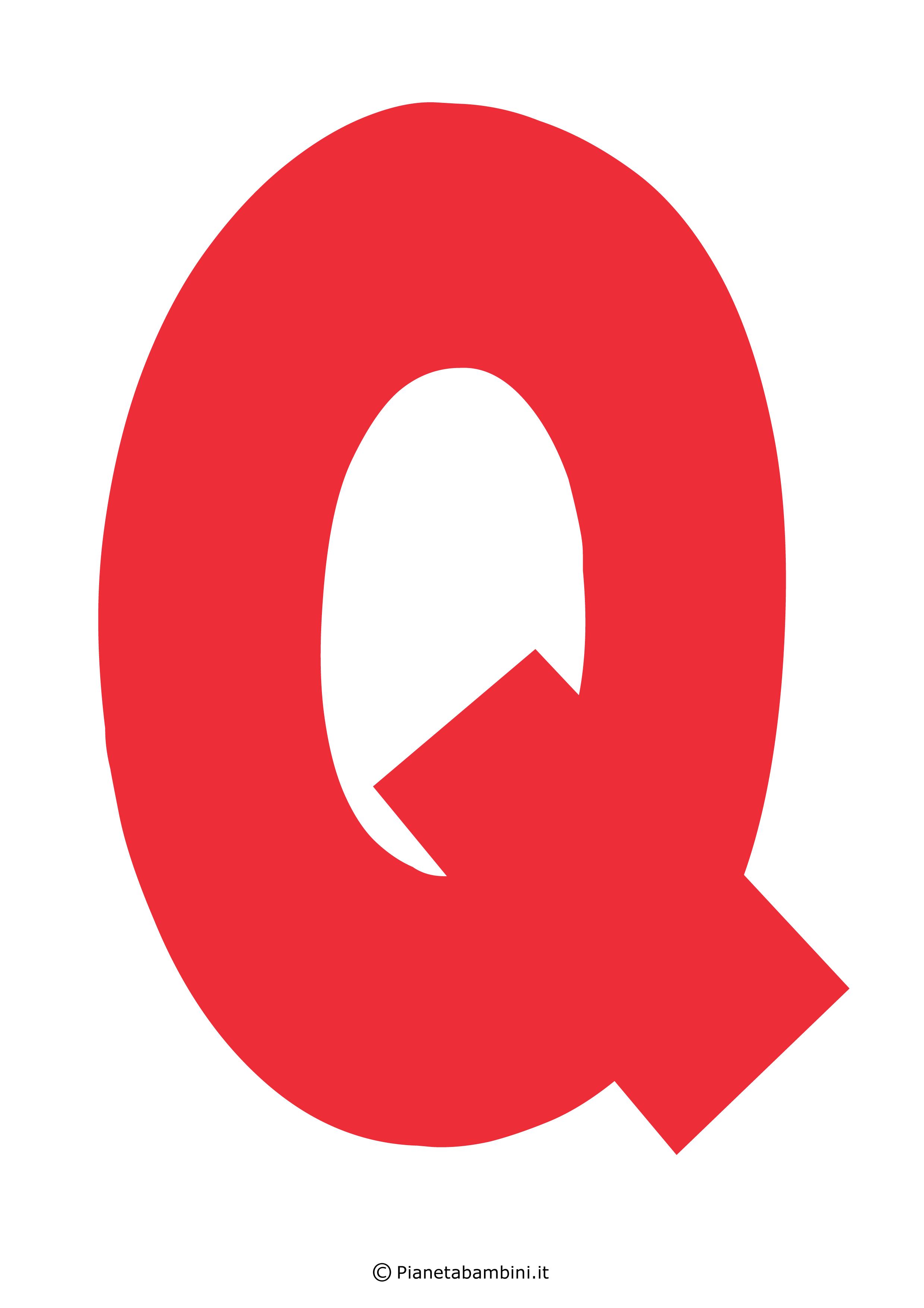 Lettera-Q-Rossa