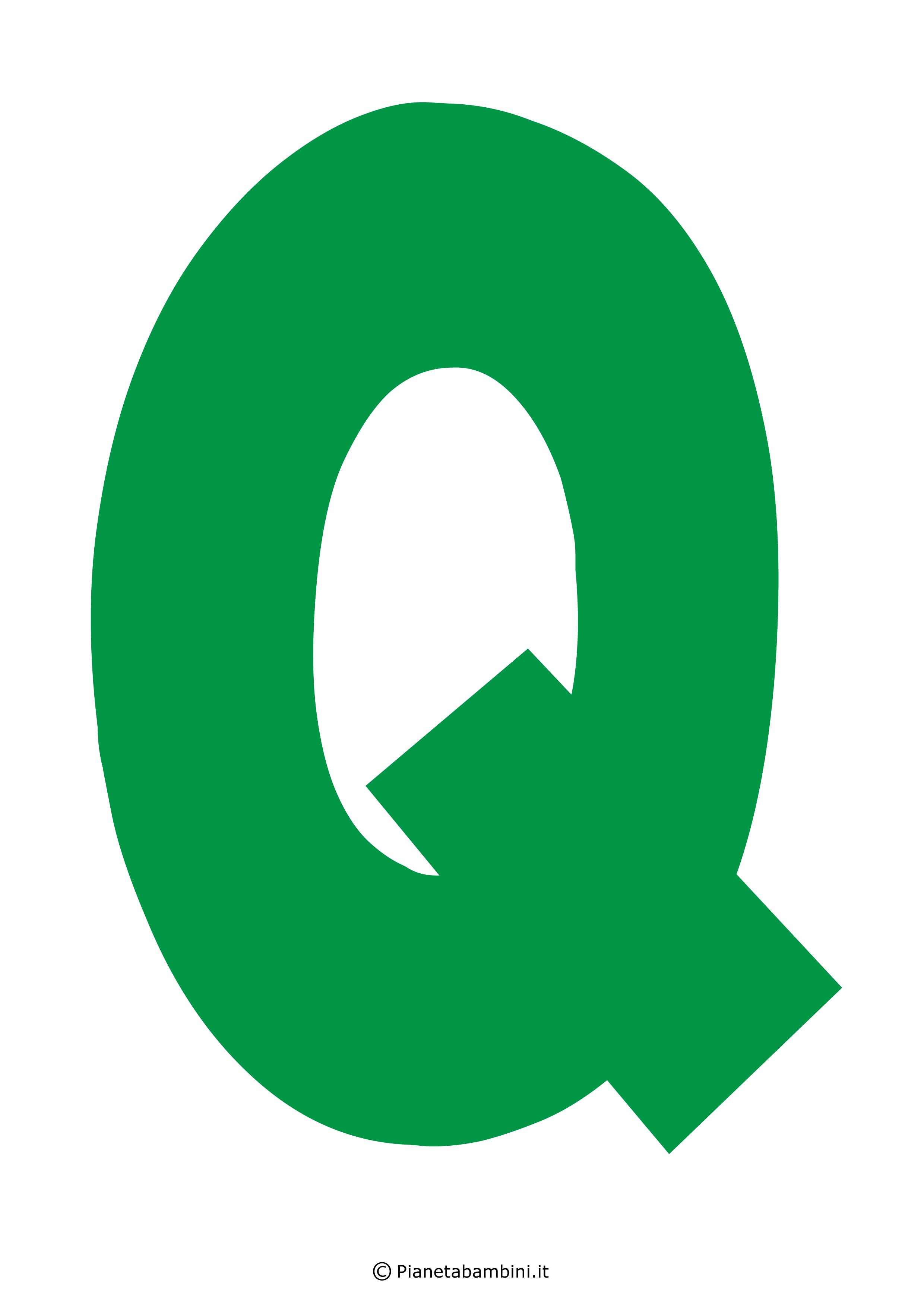 Lettera-Q-Verde