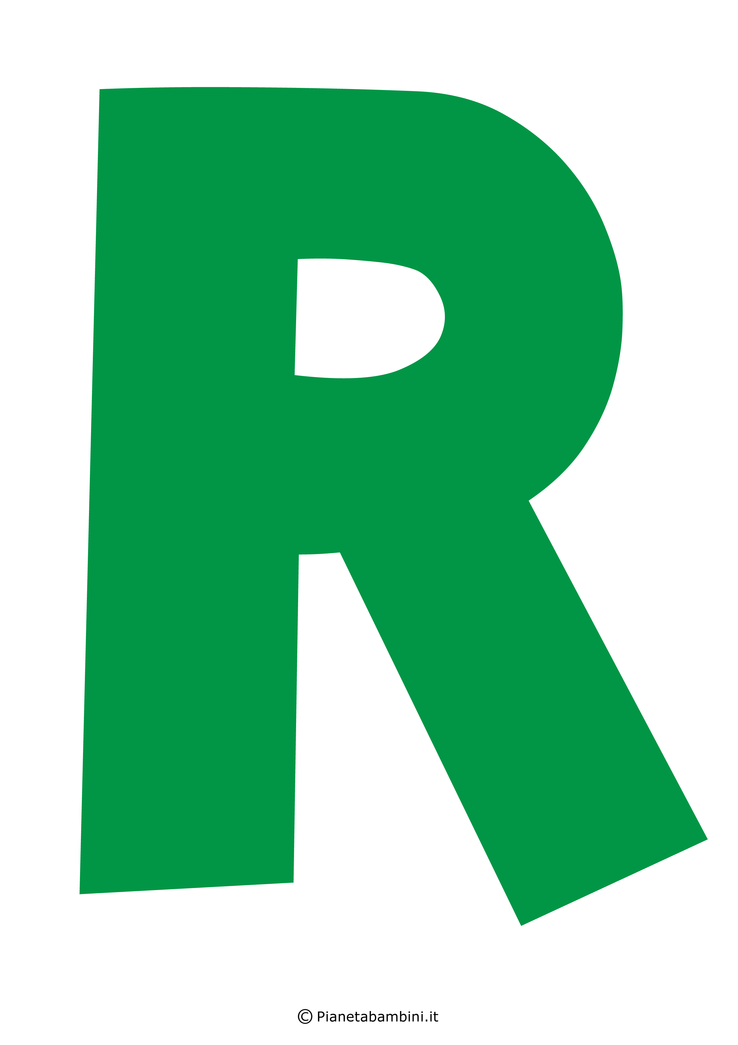 Lettera-R-Verde