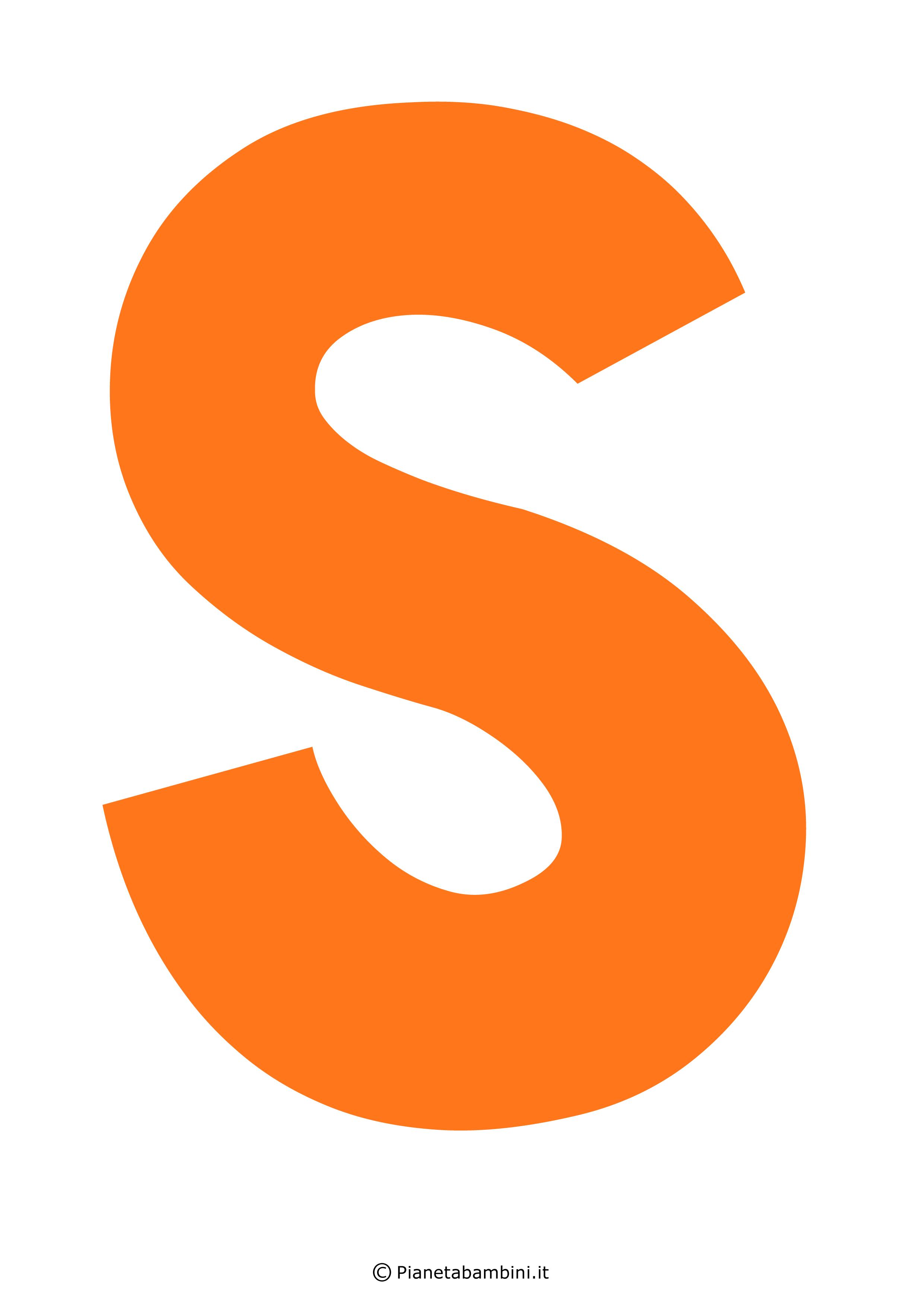 Lettera-S-Arancione