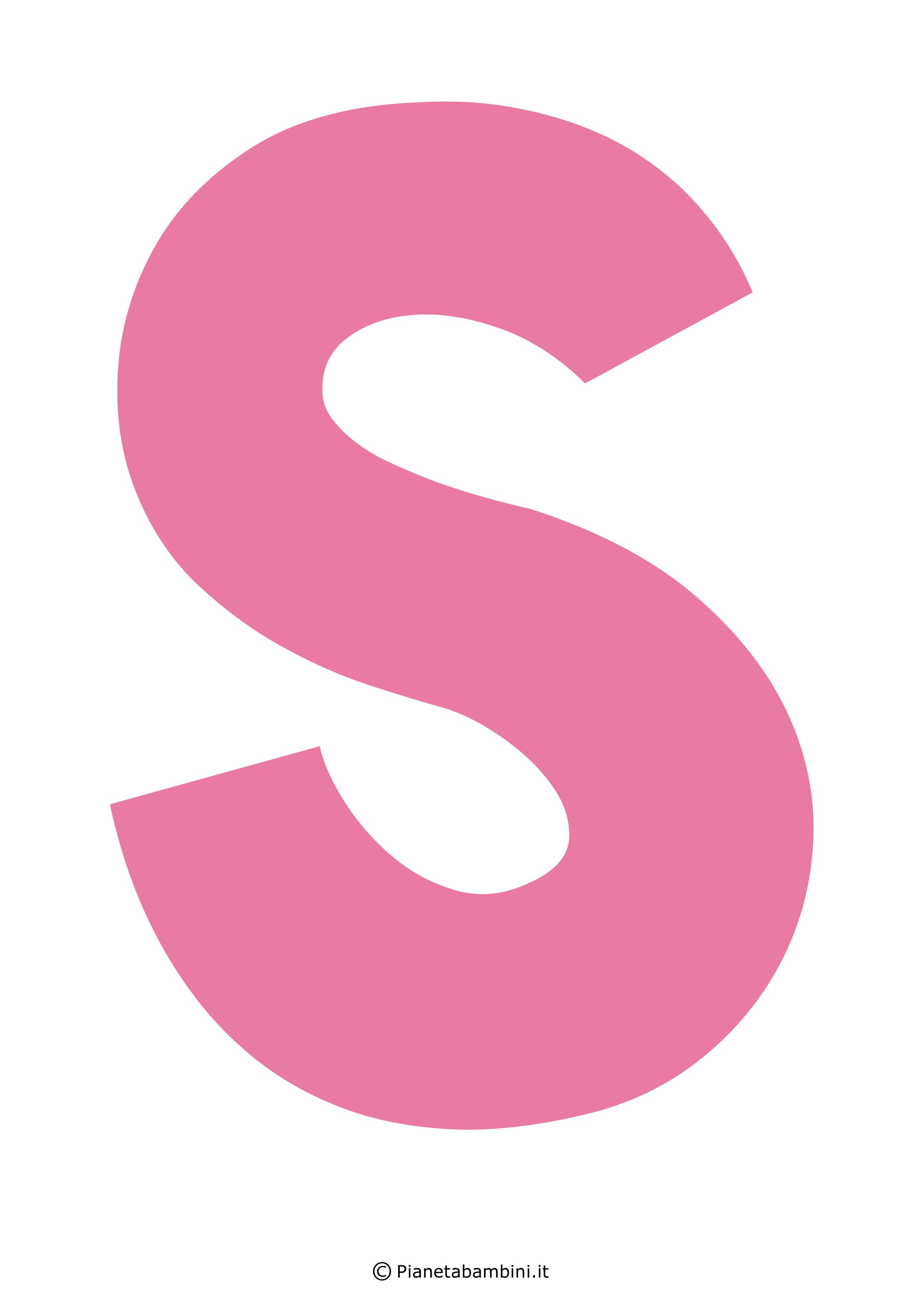 Lettera-S-Rosa