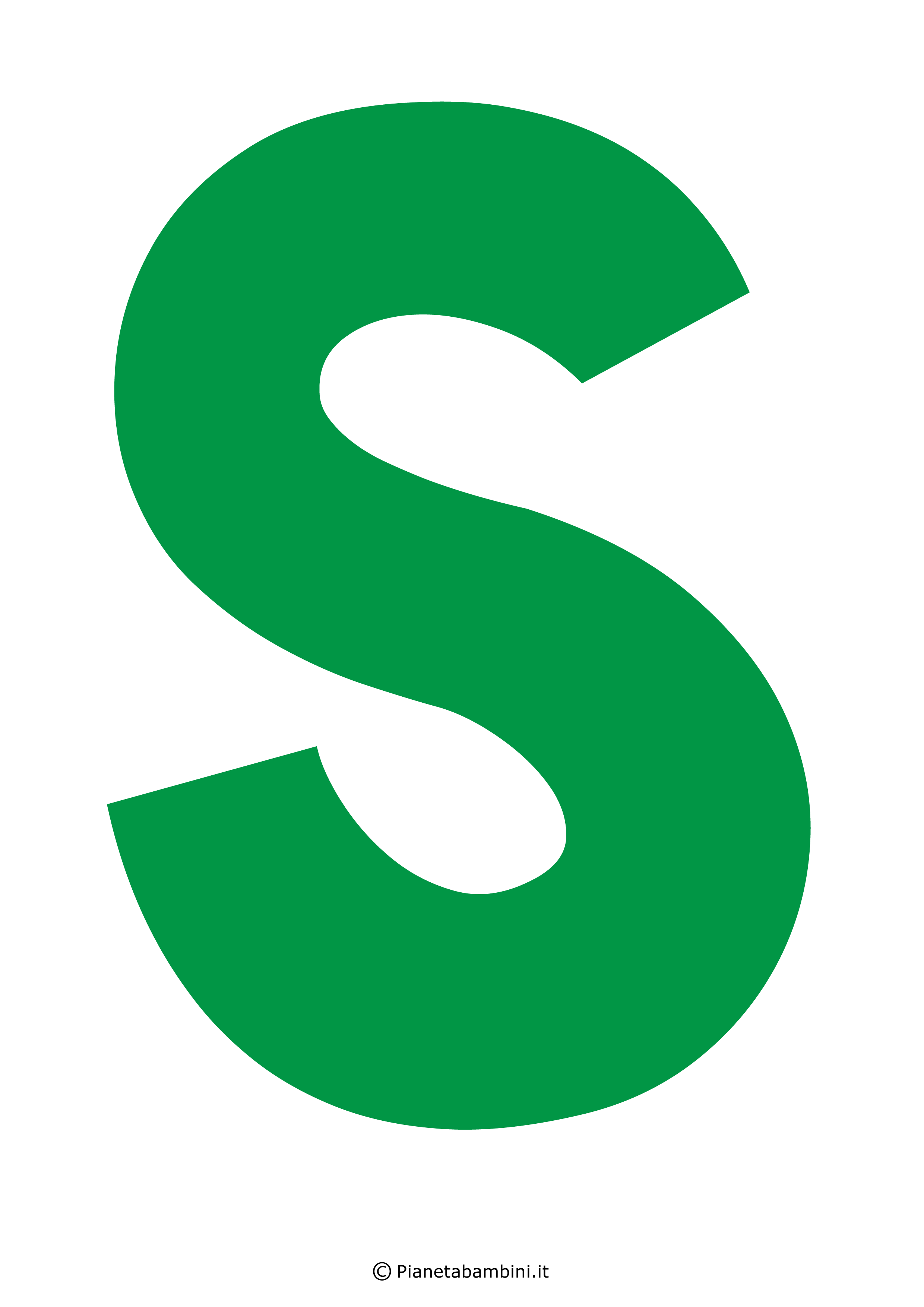 Lettera-S-Verde