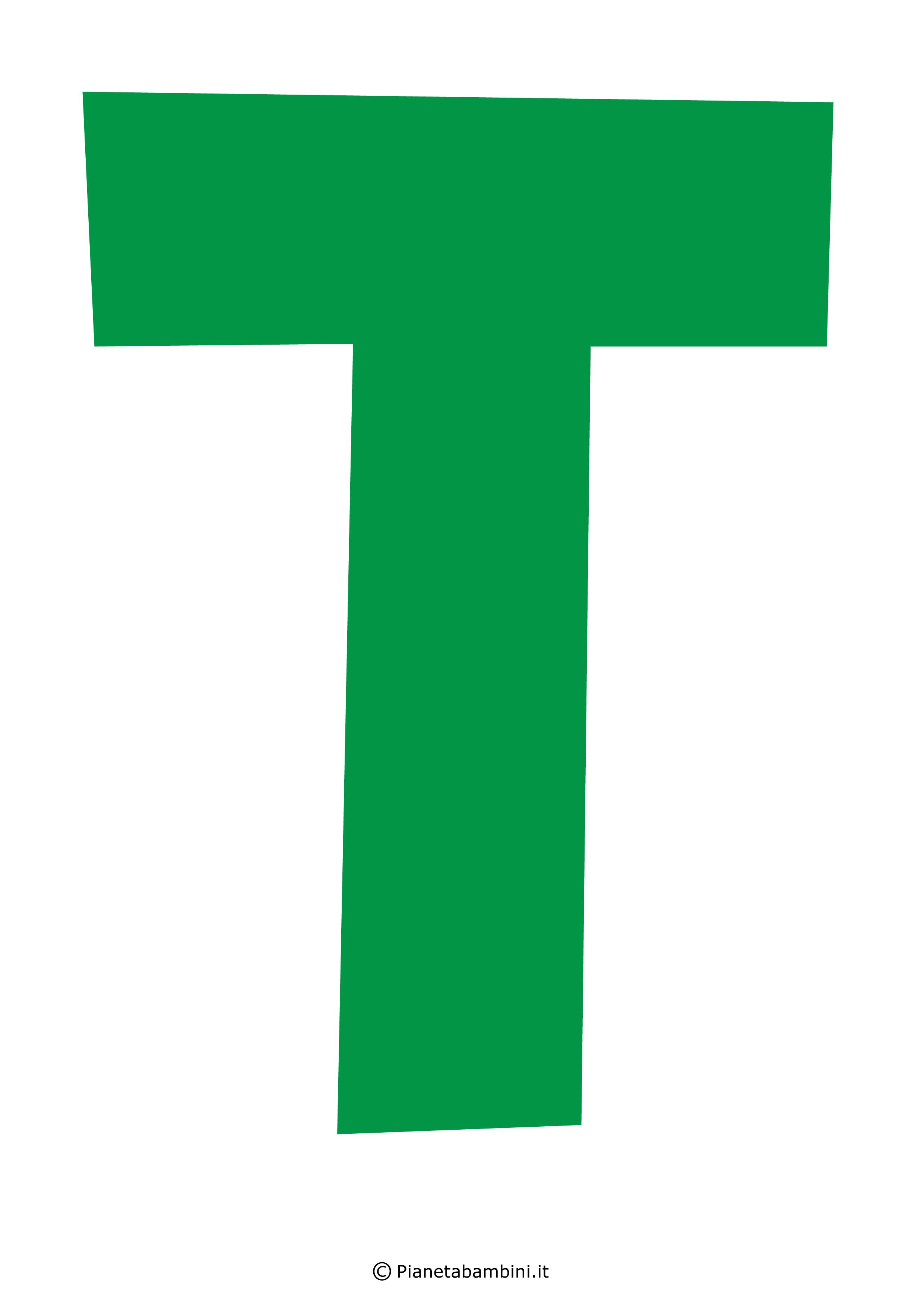Lettera-T-Verde