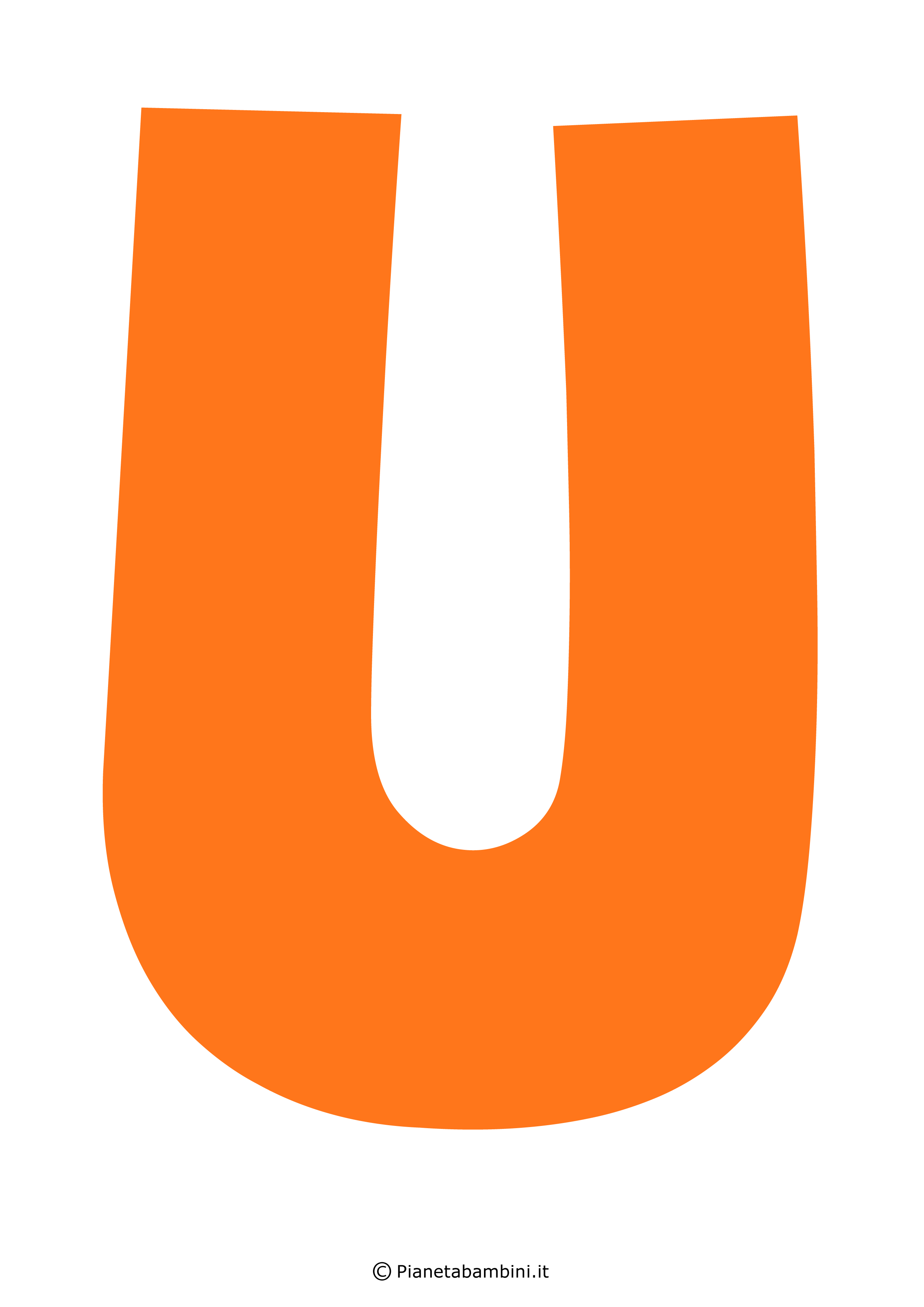 Lettera-U-Arancione