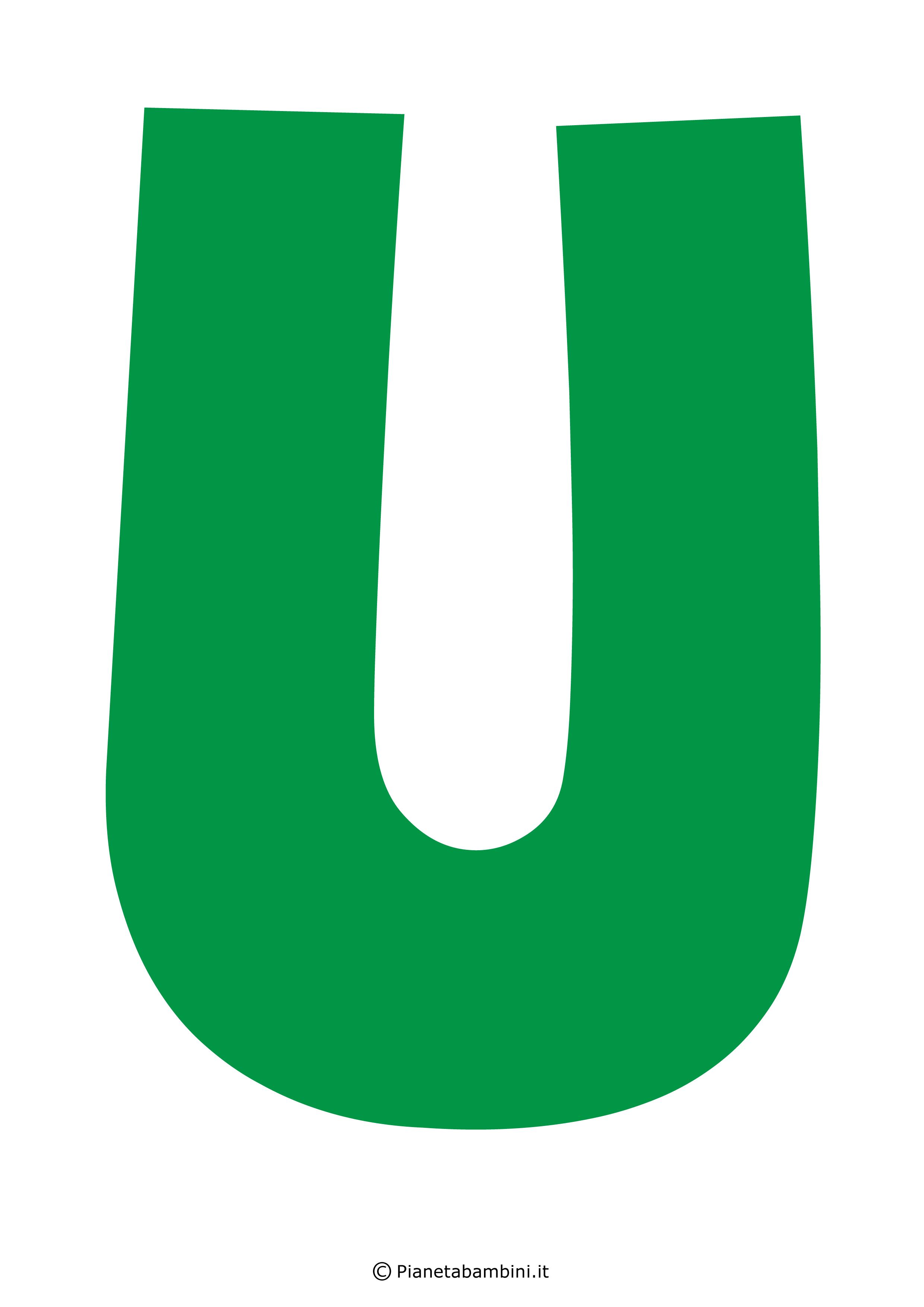 Lettera-U-Verde