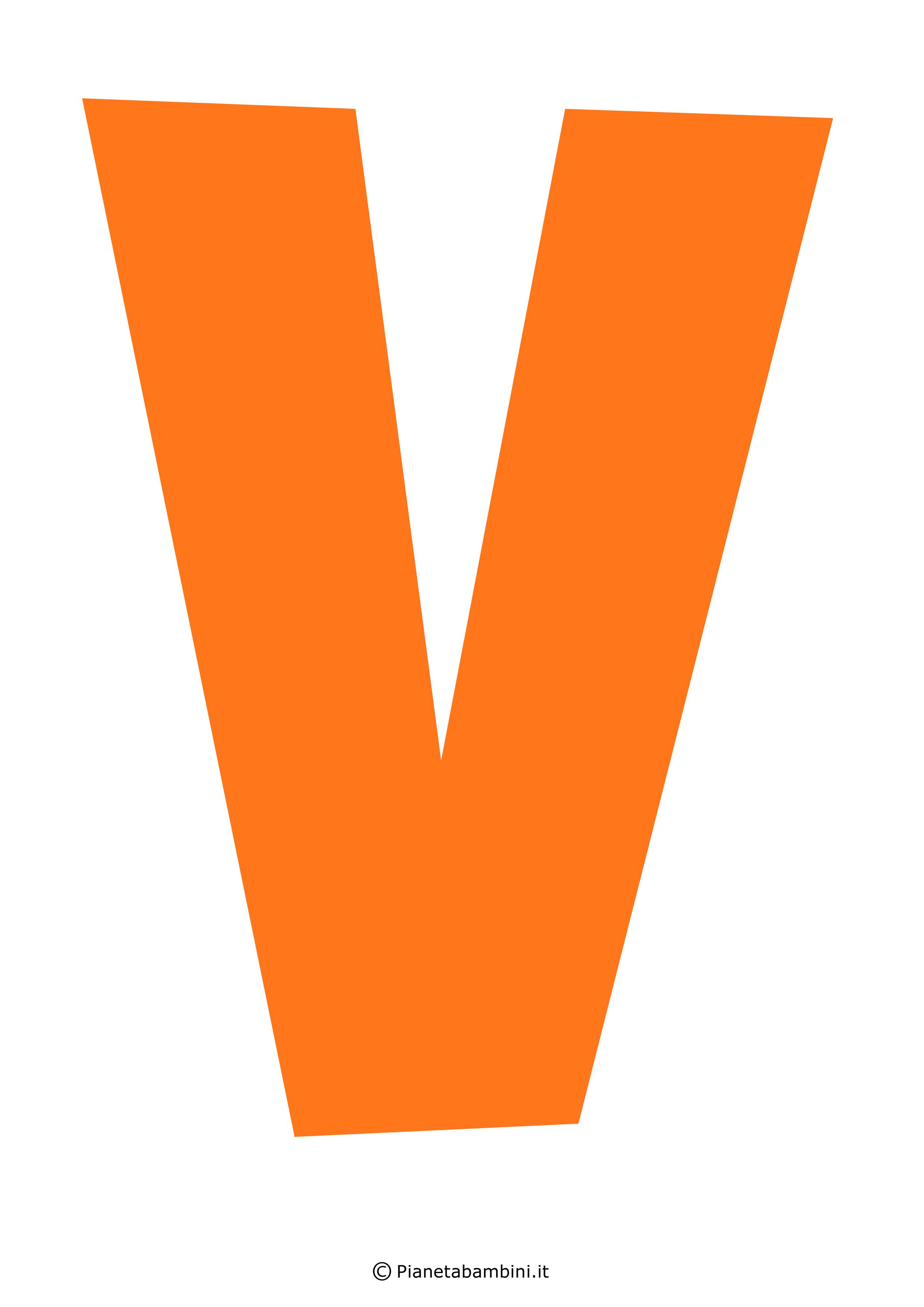 Lettera-V-Arancione