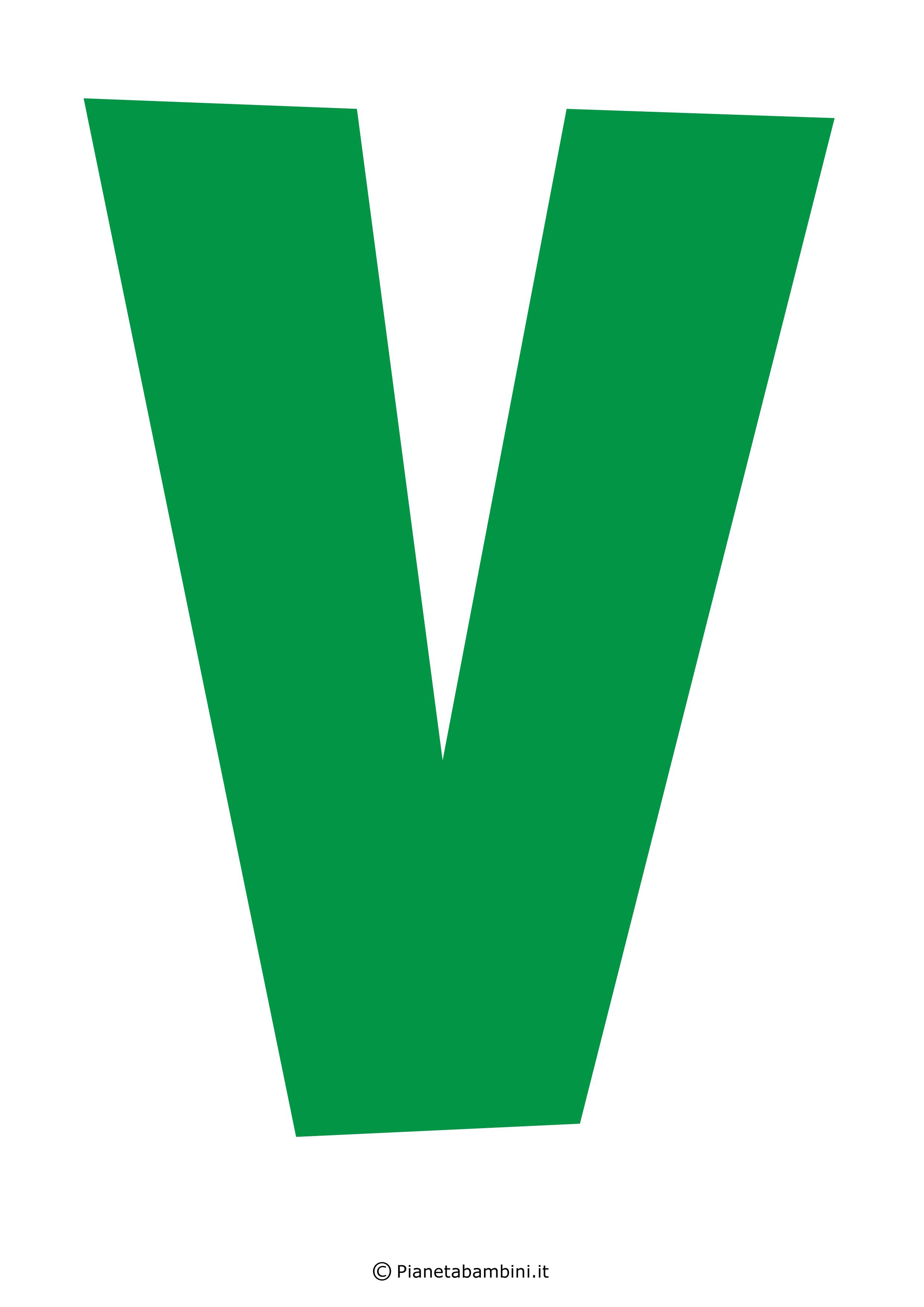 Lettera-V-Verde