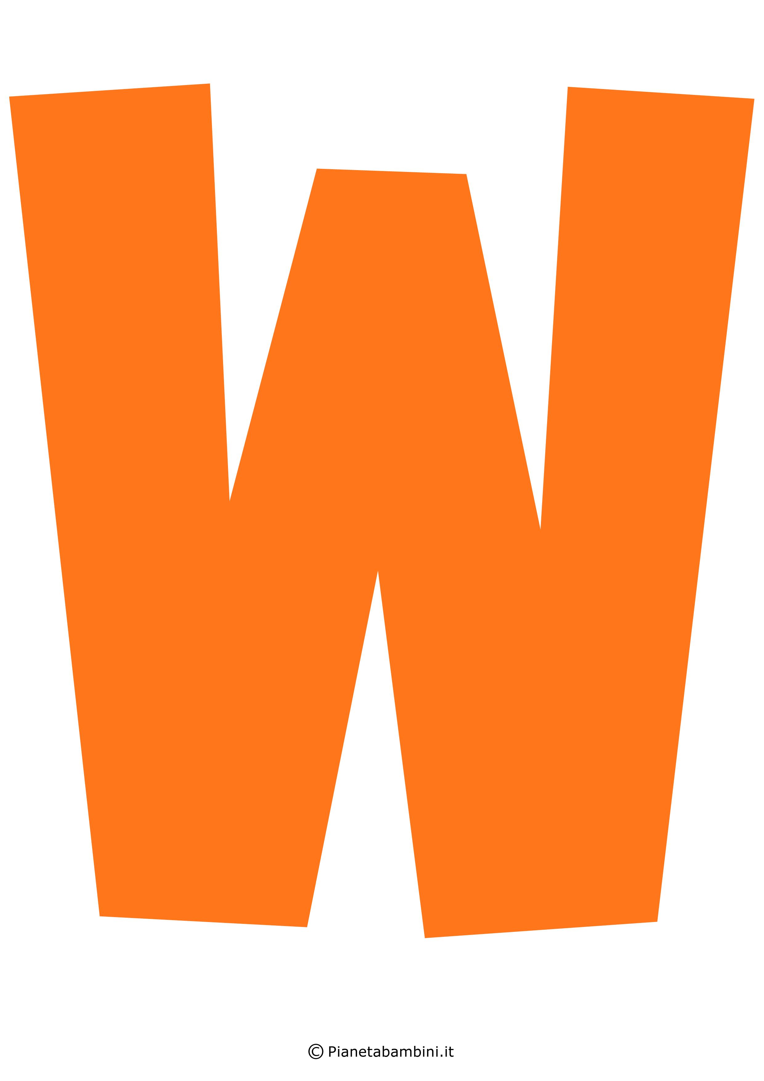 Lettera-W-Arancione