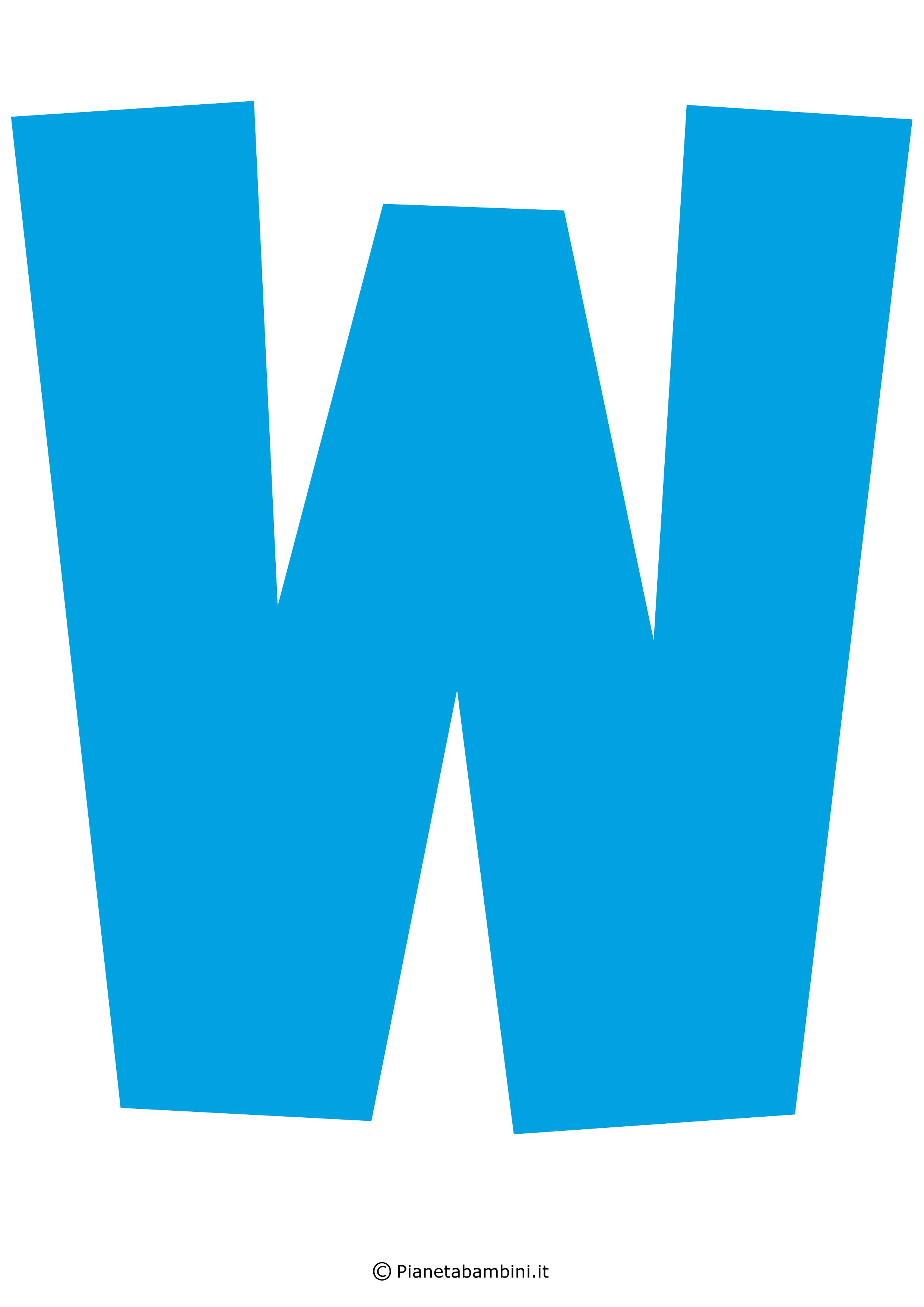 Lettera-W-Azzurra