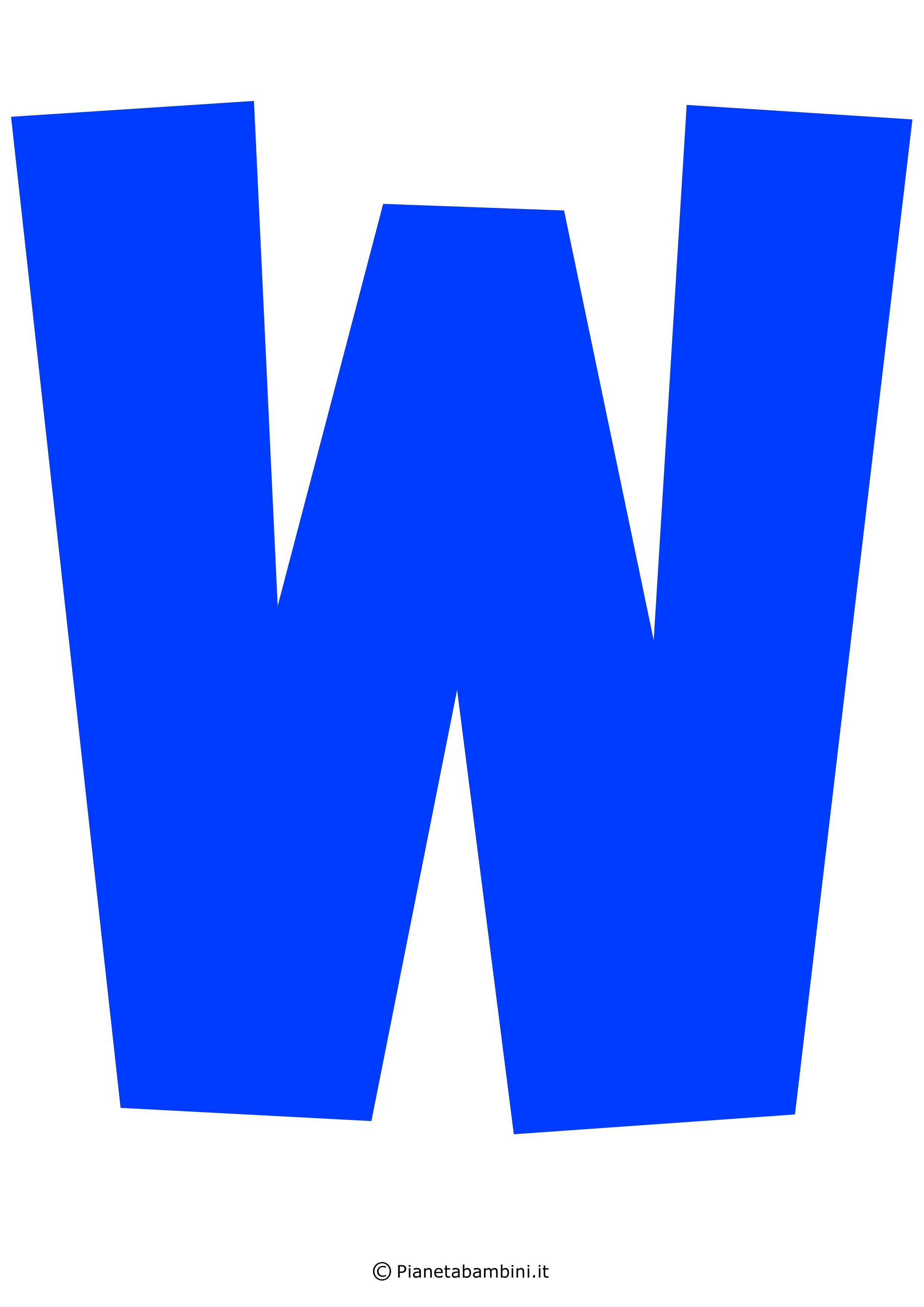 Lettera-W-Blu