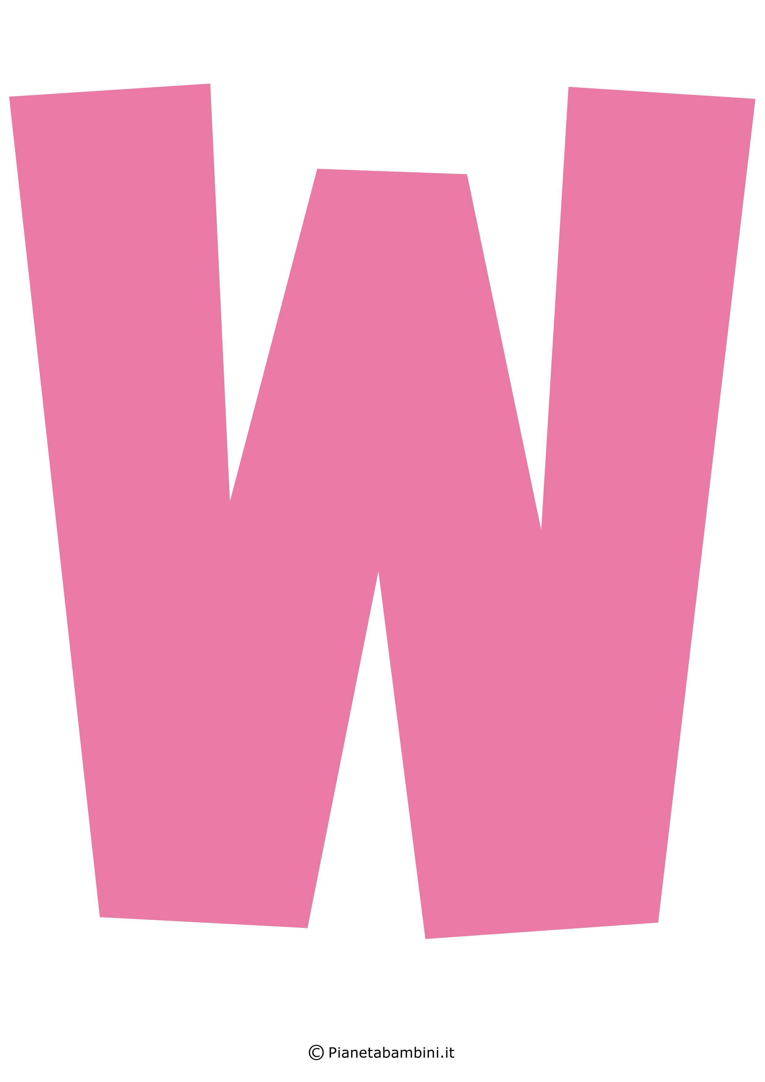 Lettera-W-Rosa