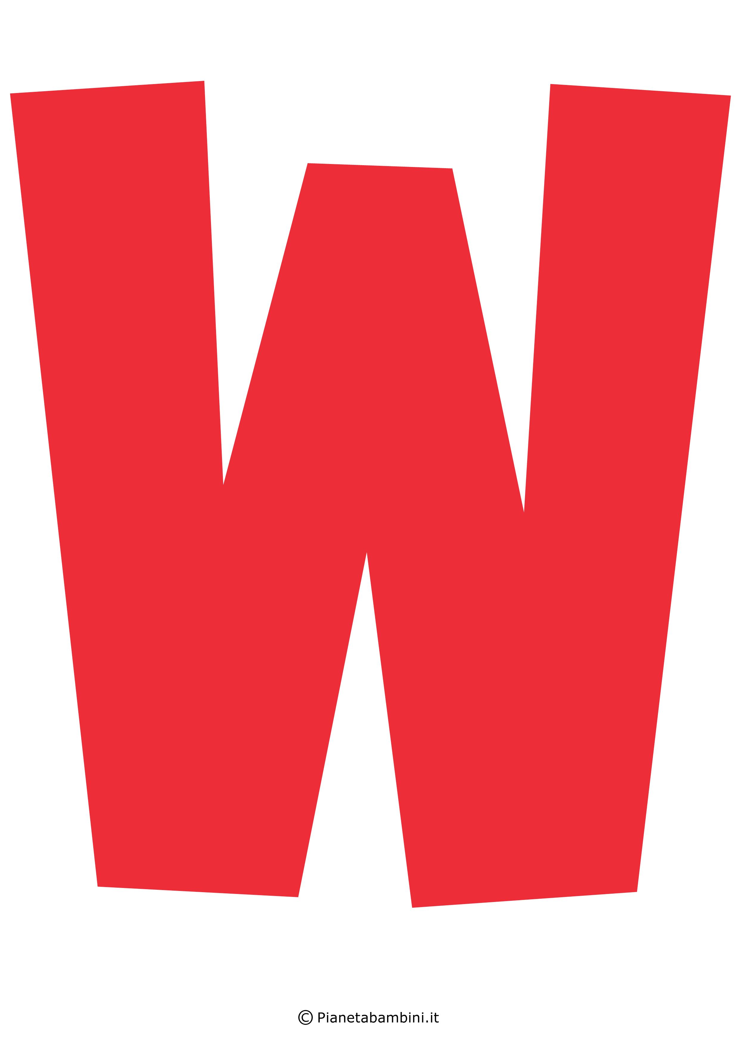 Lettera-W-Rossa