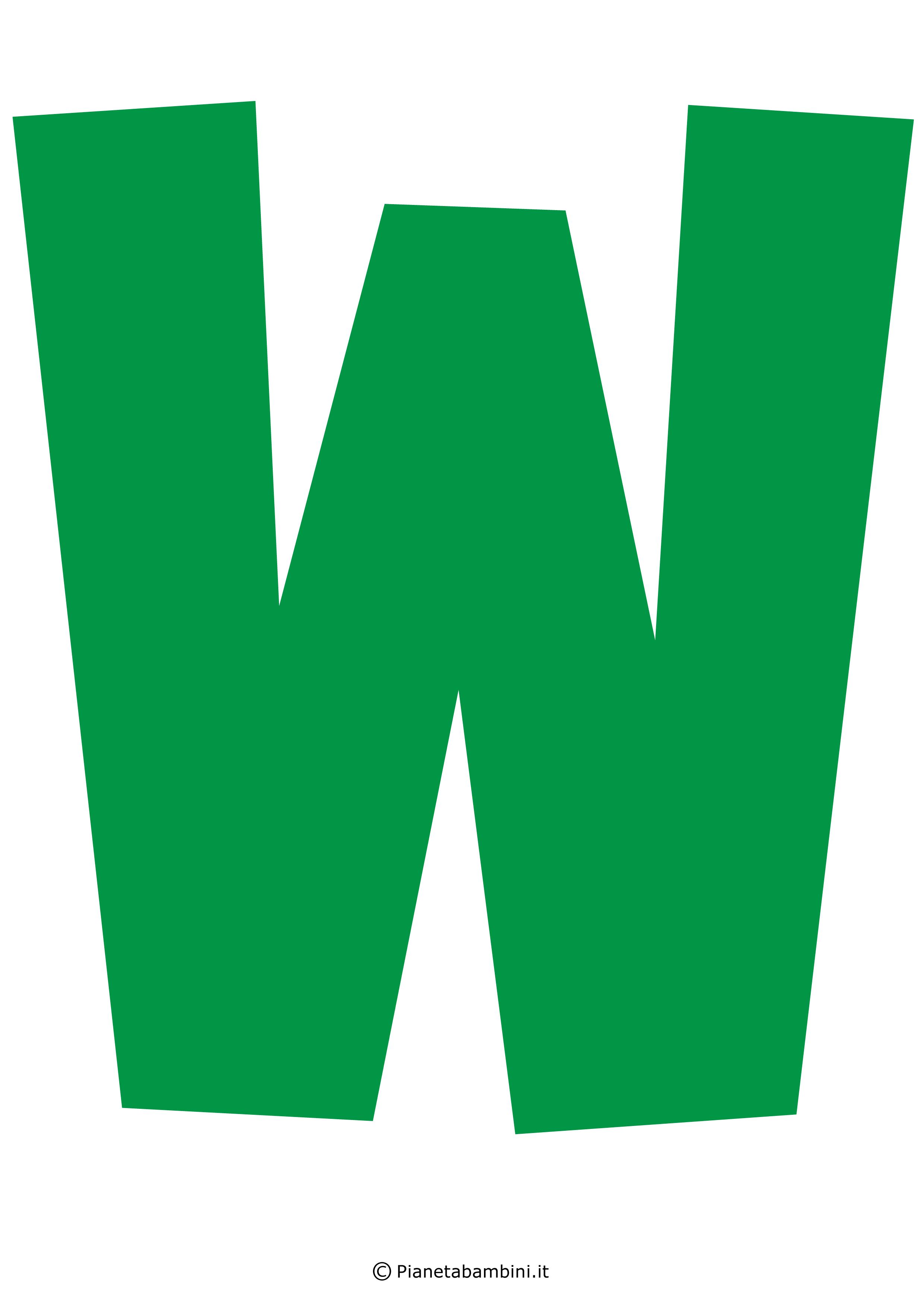 Lettera-W-Verde
