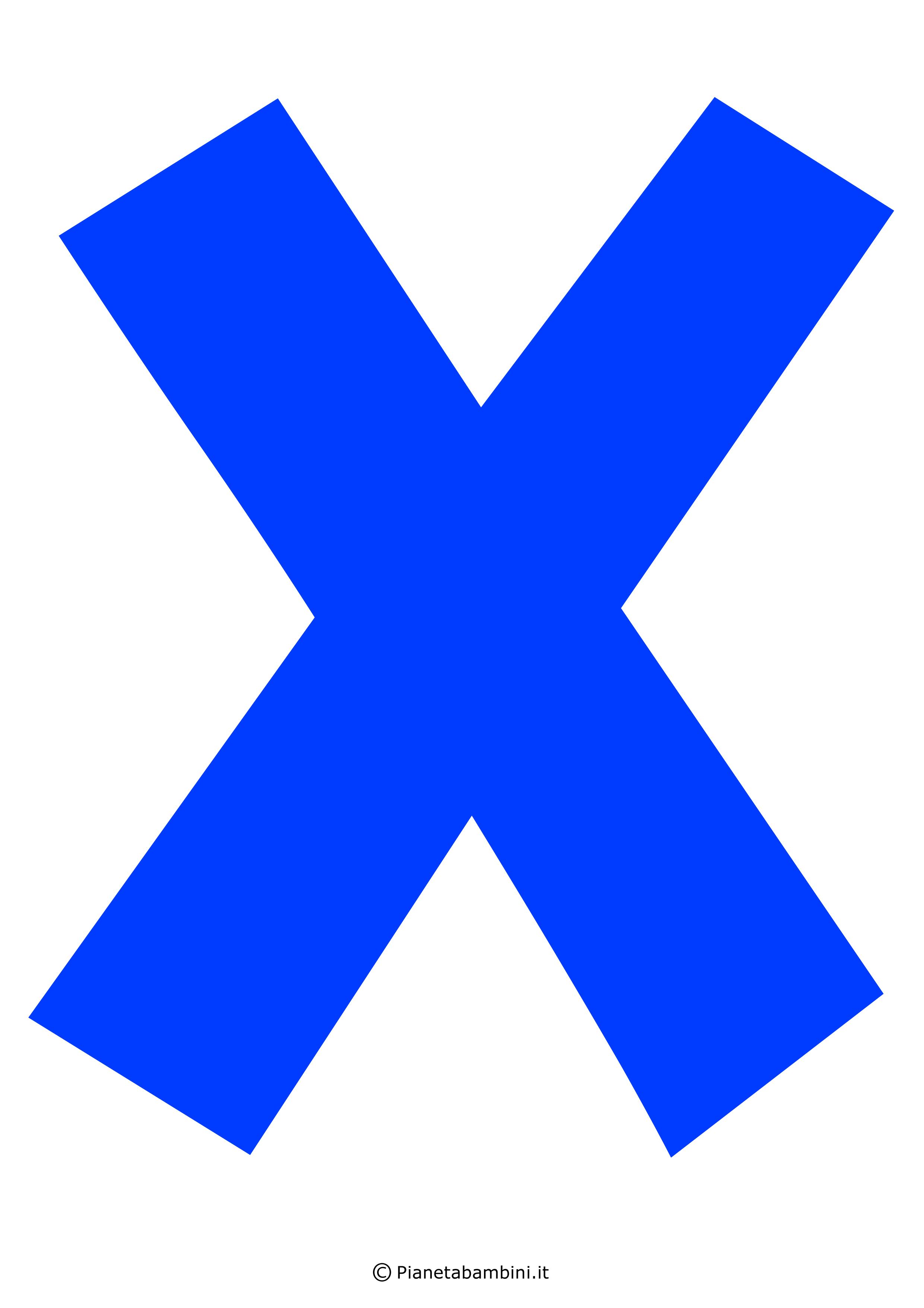 Lettera-X-Blu