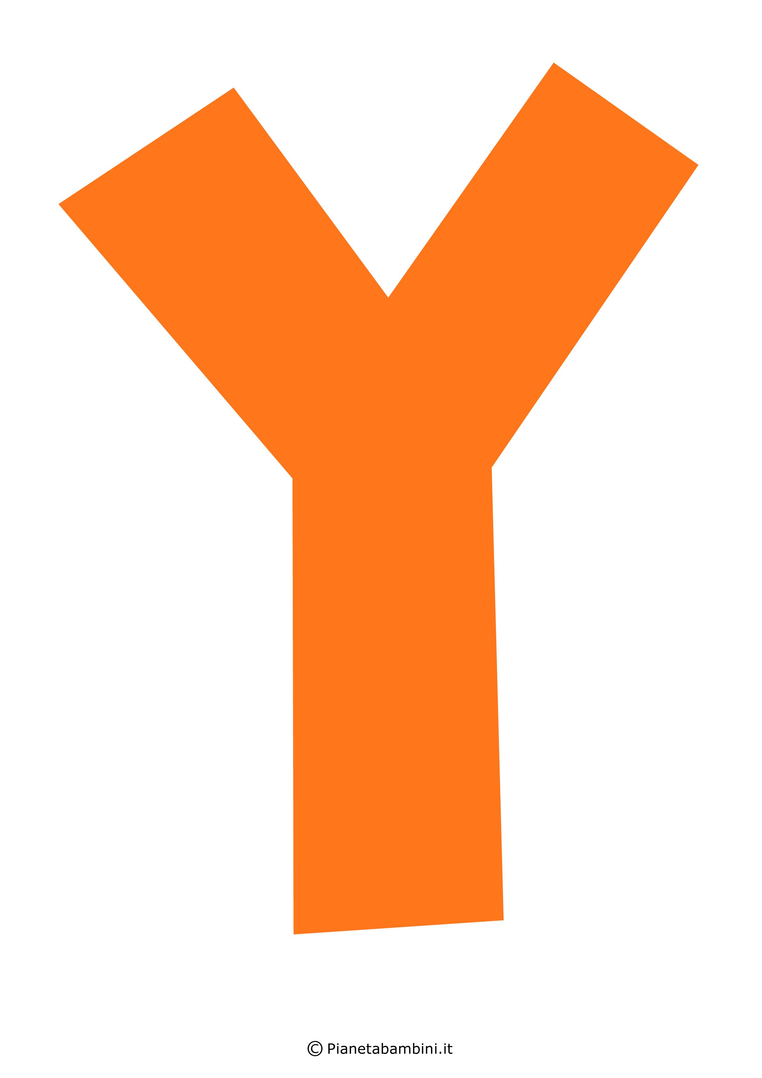 Lettera-Y-Arancione