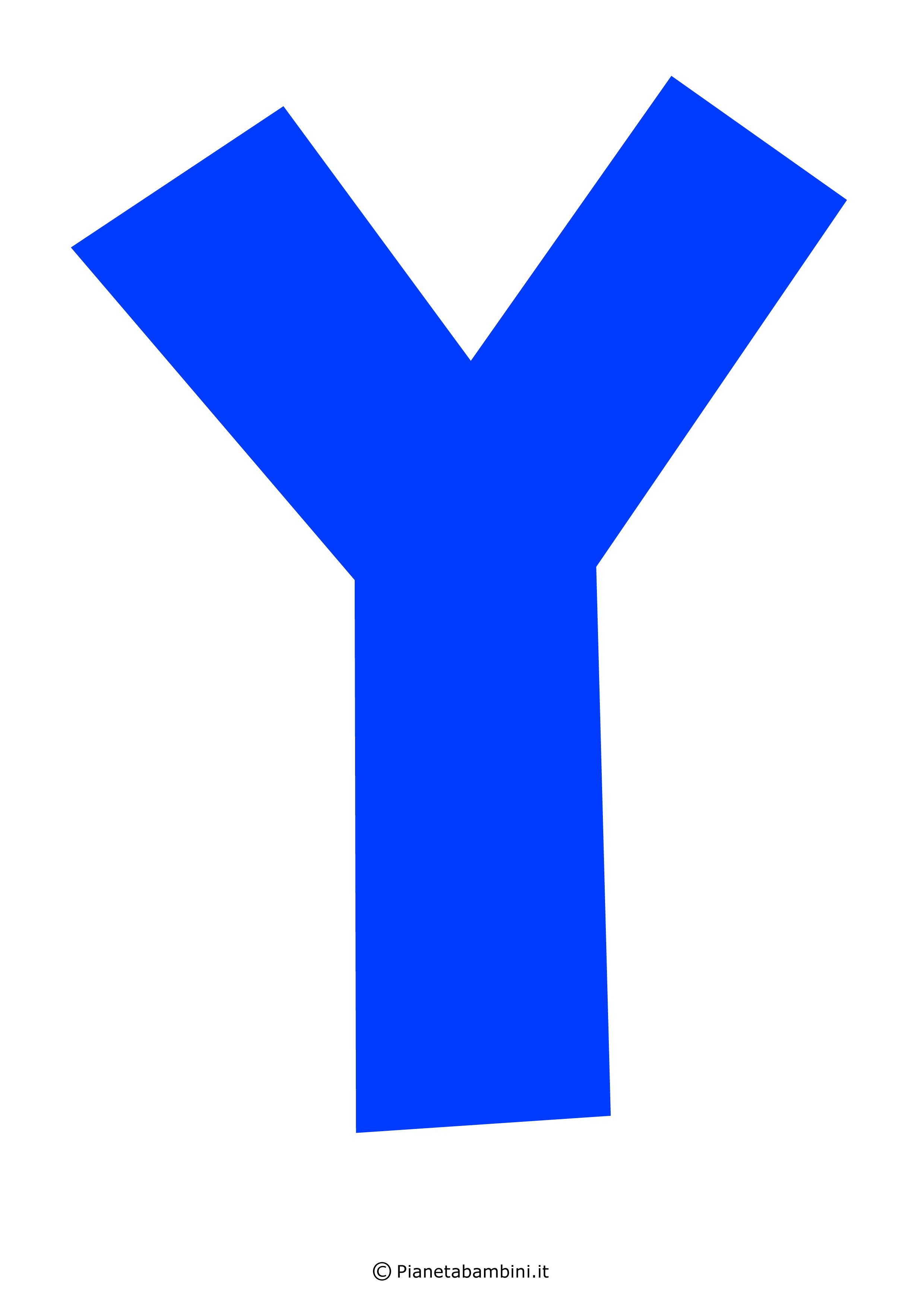 Lettera-Y-Blu