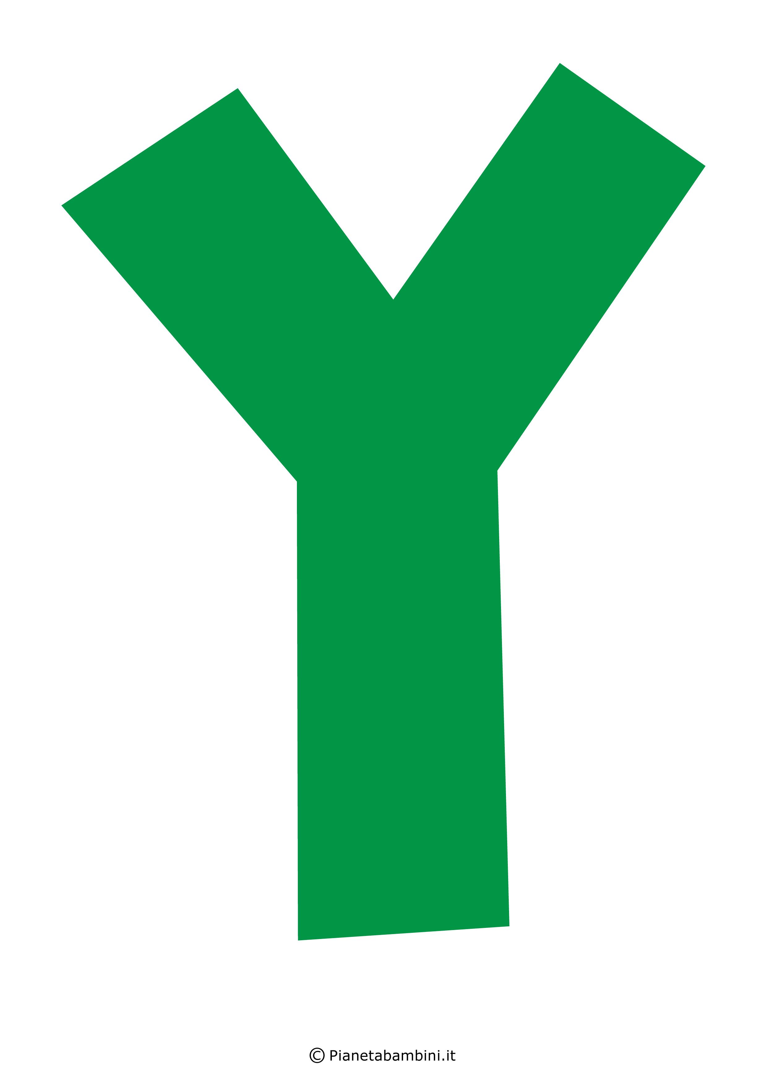 Lettera-Y-Verde