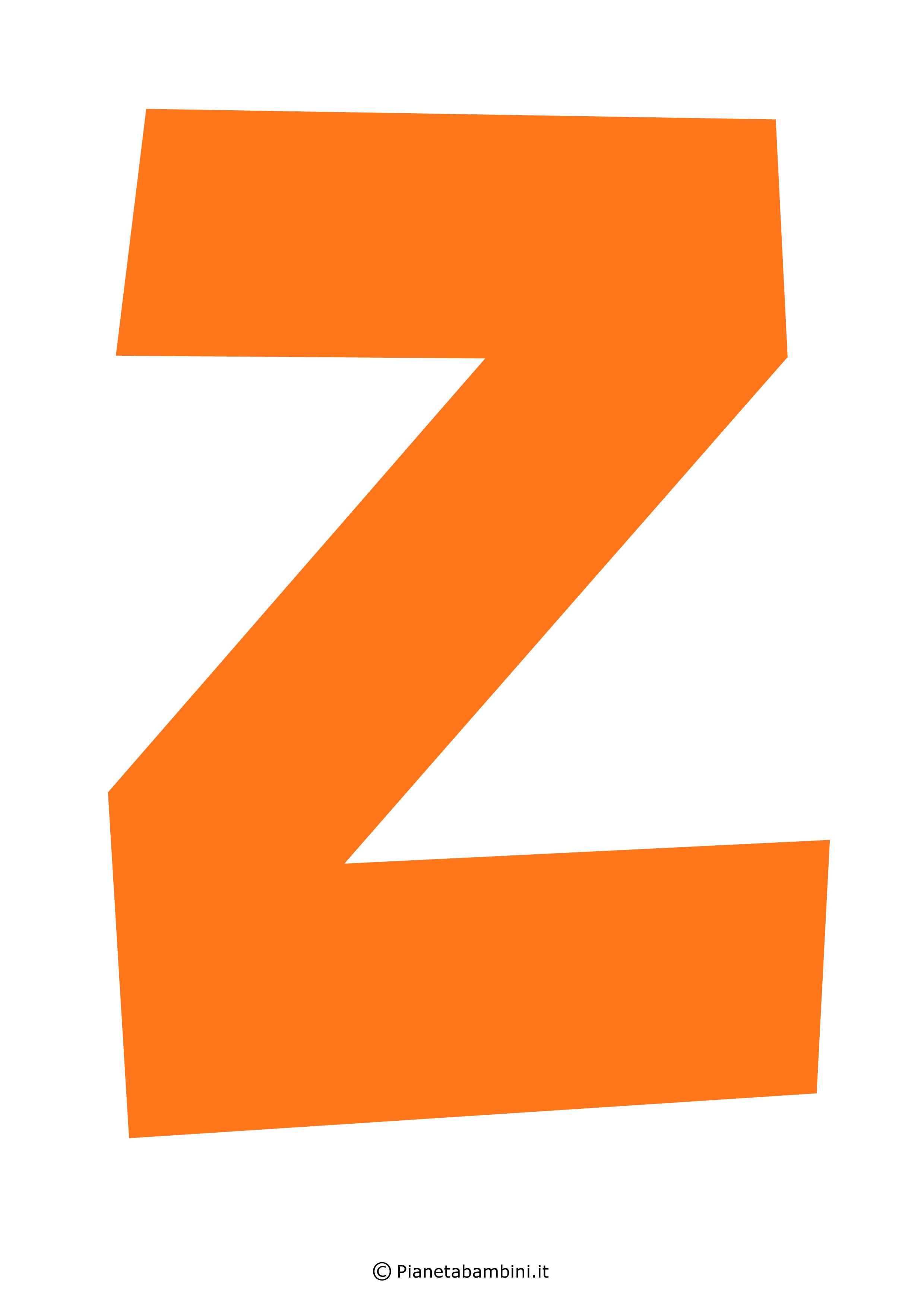 Lettera-Z-Arancione